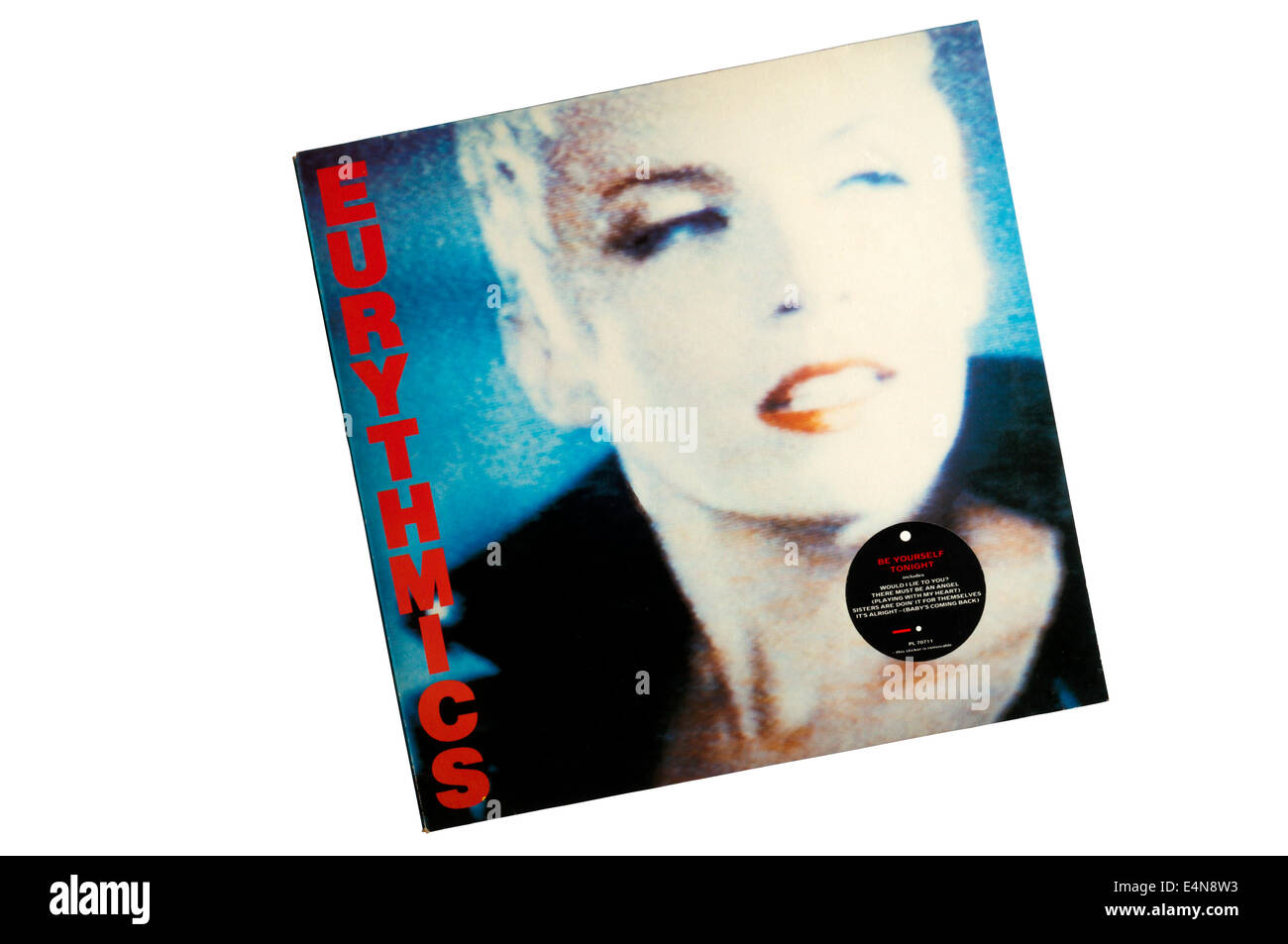 Be Yourself Tonight was the fourth studio album by the British pop duo Eurythmics, released in 1985. - Stock Image