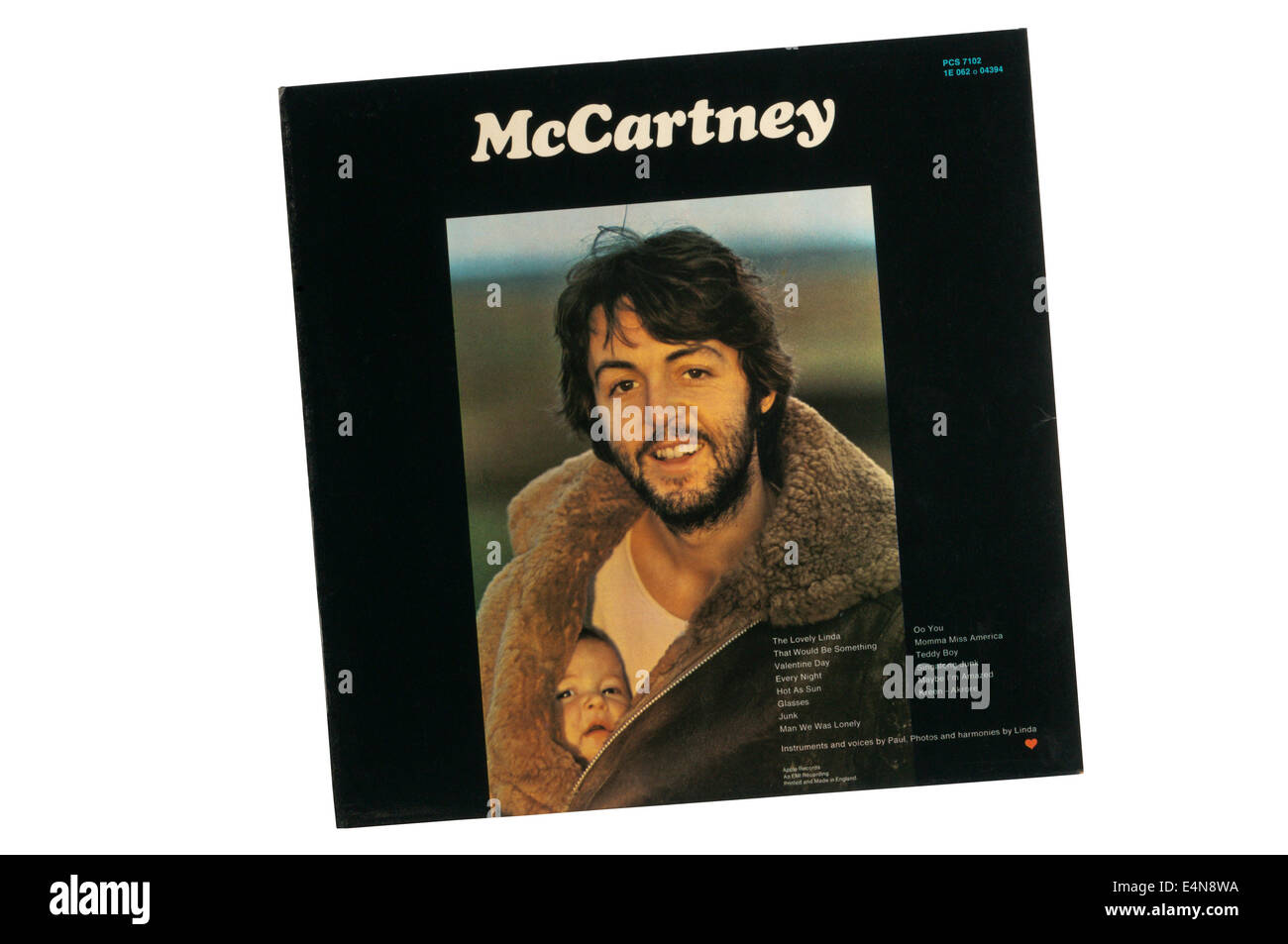 McCartney was first solo album by Paul McCartney. It was issued on Apple Records in April 1970. Photograph shows - Stock Image