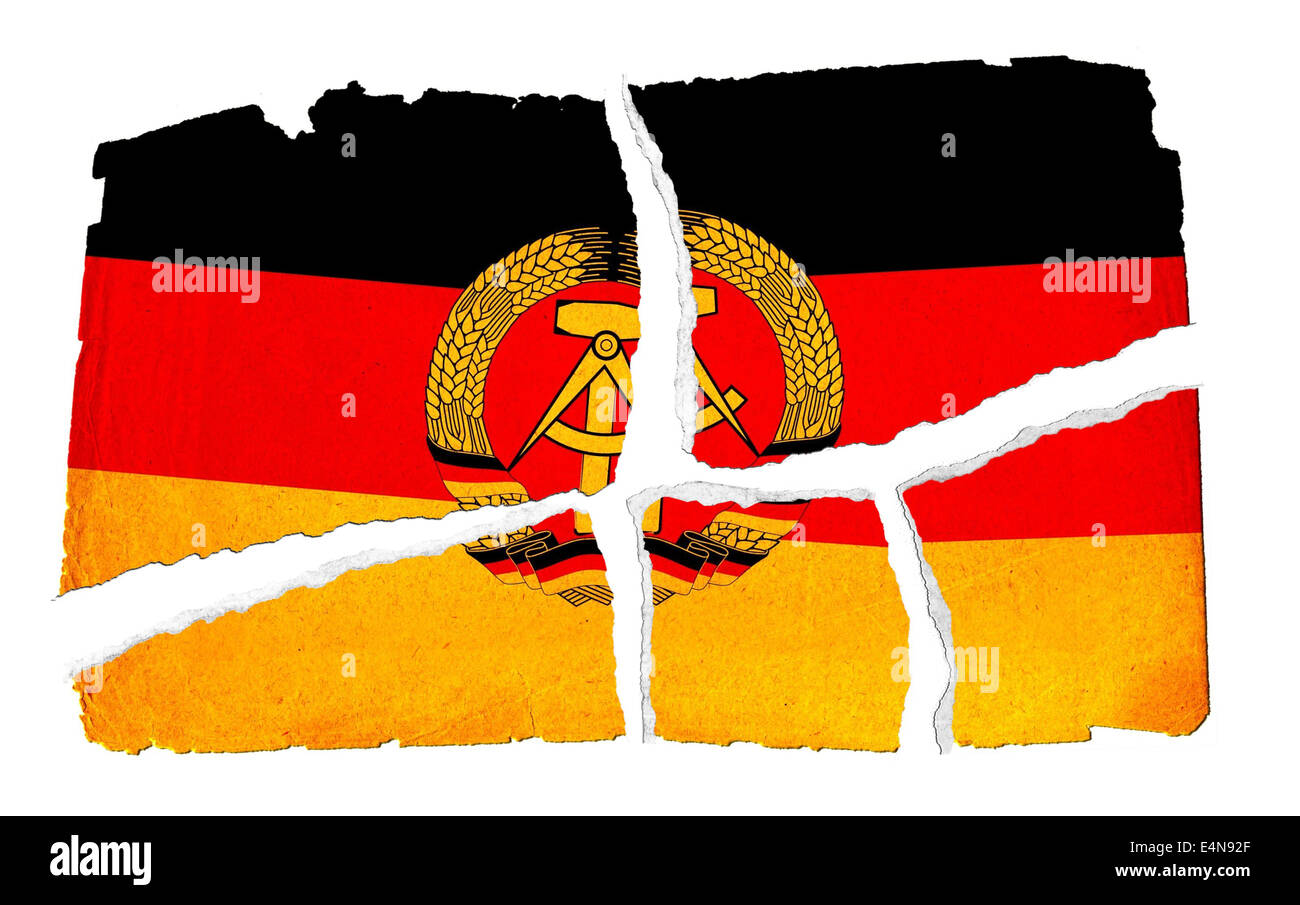 Grungy Flag - DDR Stock Photo