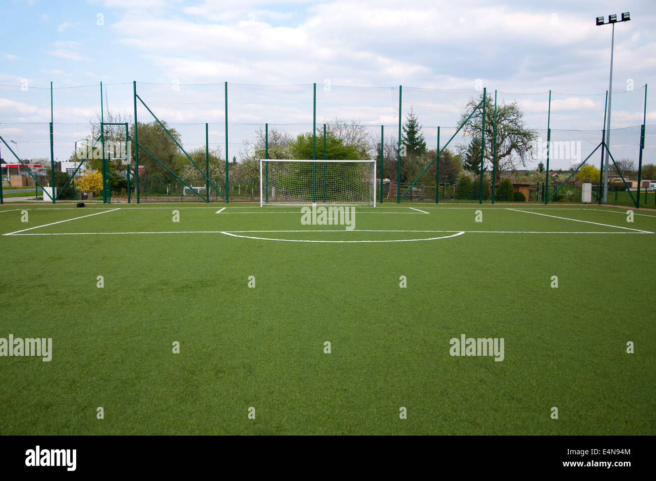 penalty area on football court - Stock Image