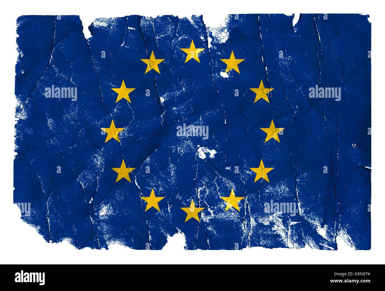Grungy Flag - EU - Stock Image