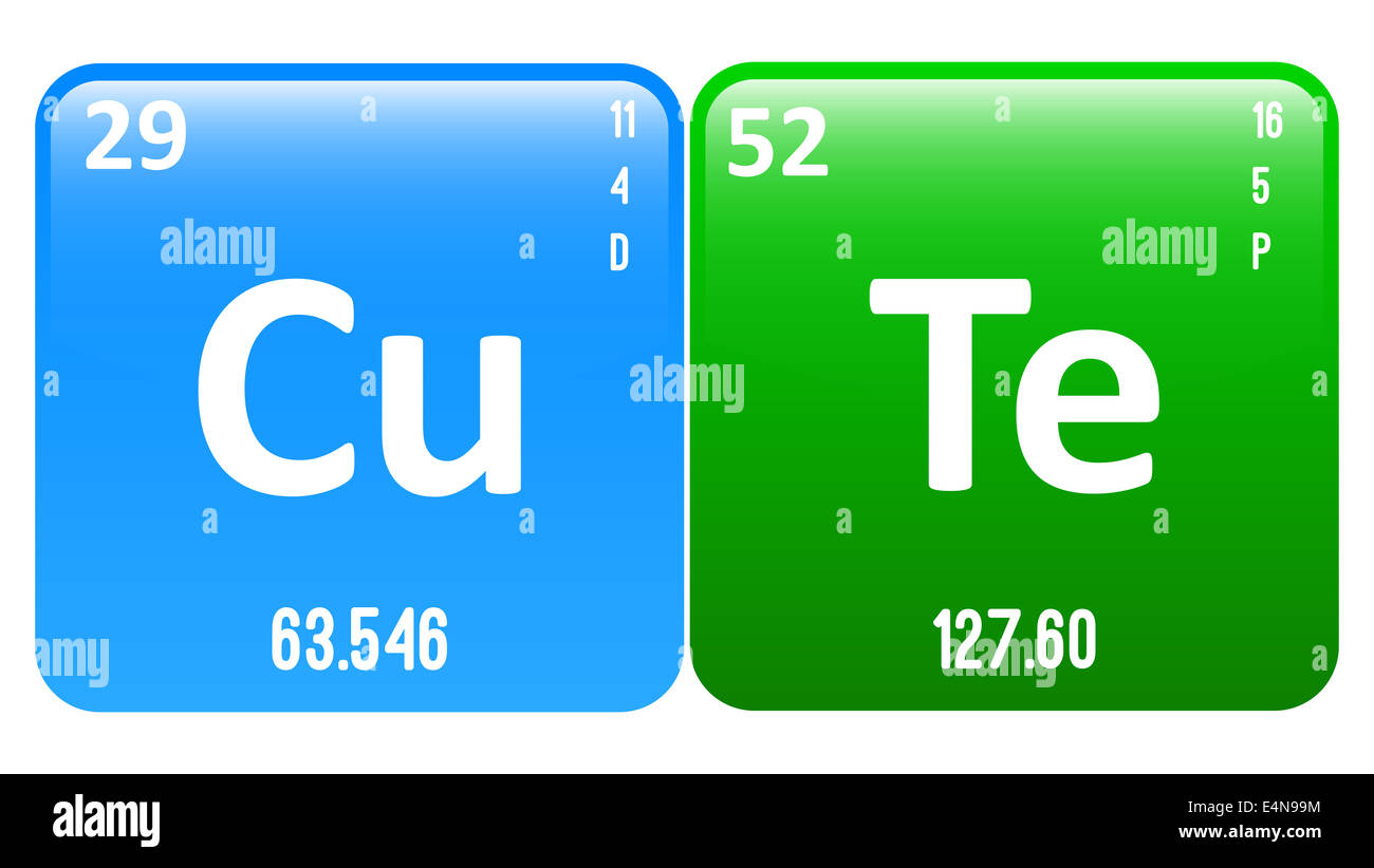 Cute word made of periodic table elements copper and tellurium stock cute word made of periodic table elements copper and tellurium urtaz Choice Image