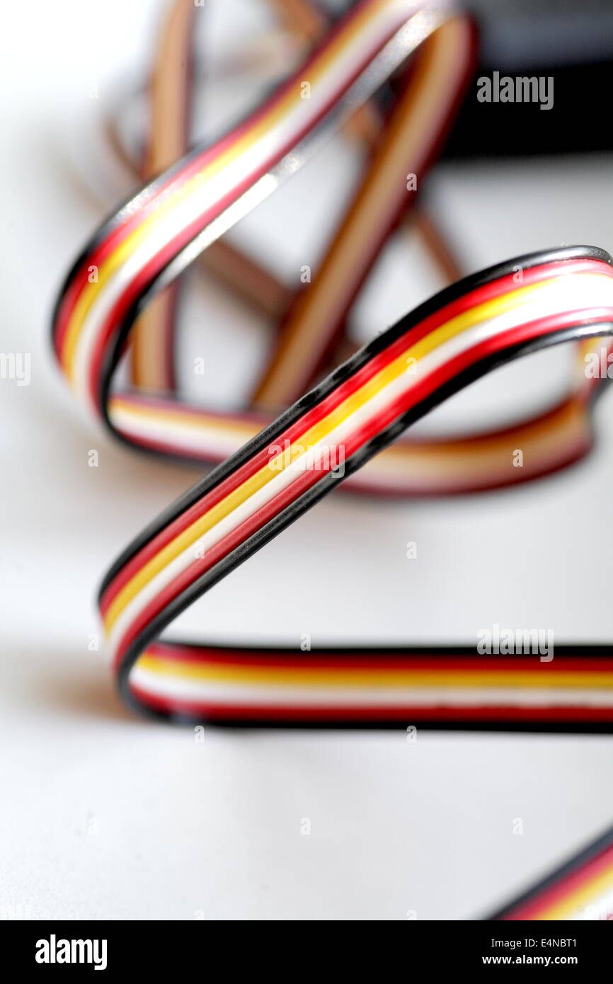 Color Wires On White Background Stock Photos & Color Wires On White ...