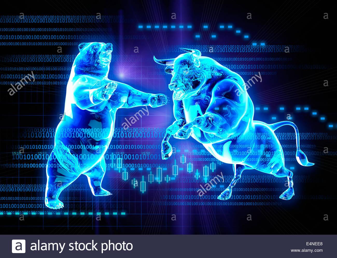 stock market animal symbols stock photos stock market animal