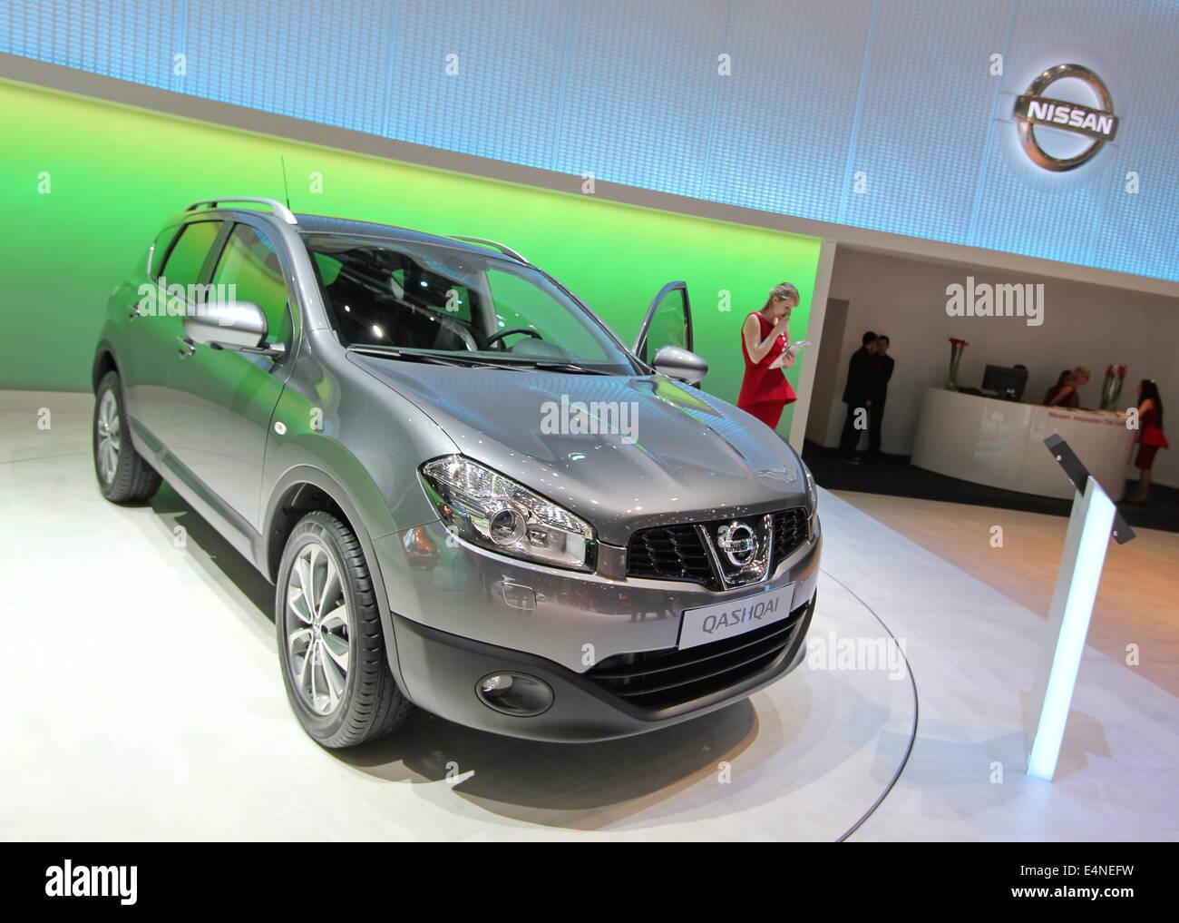 Grey Nissan Qashqai - Stock Image