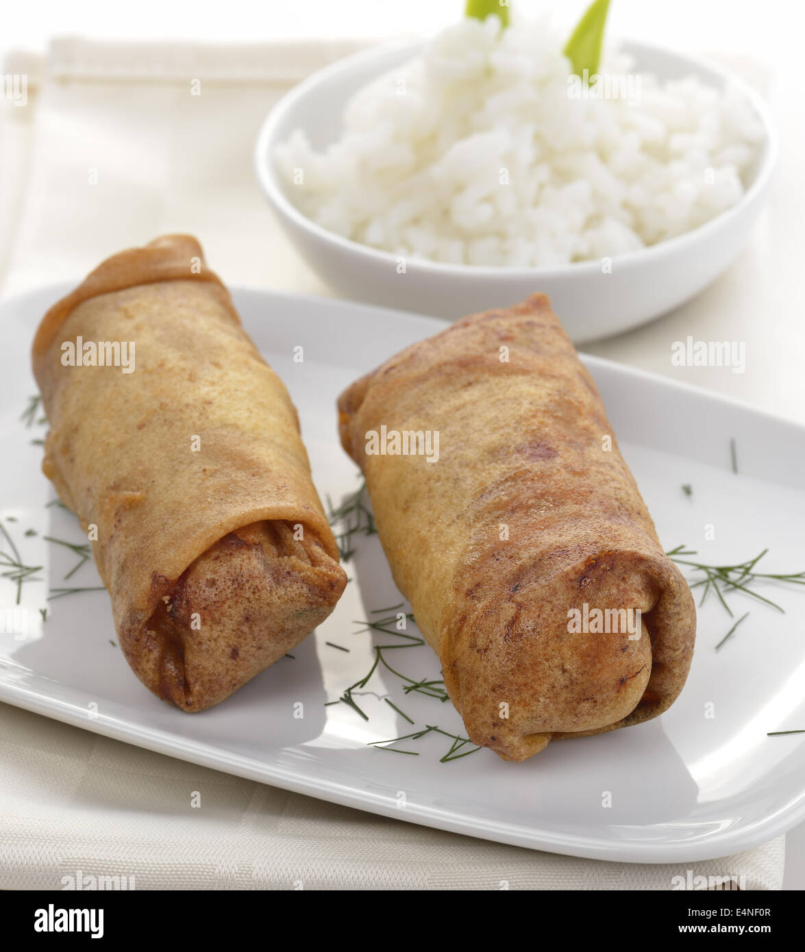 Fried Chicken Rolls - Stock Image
