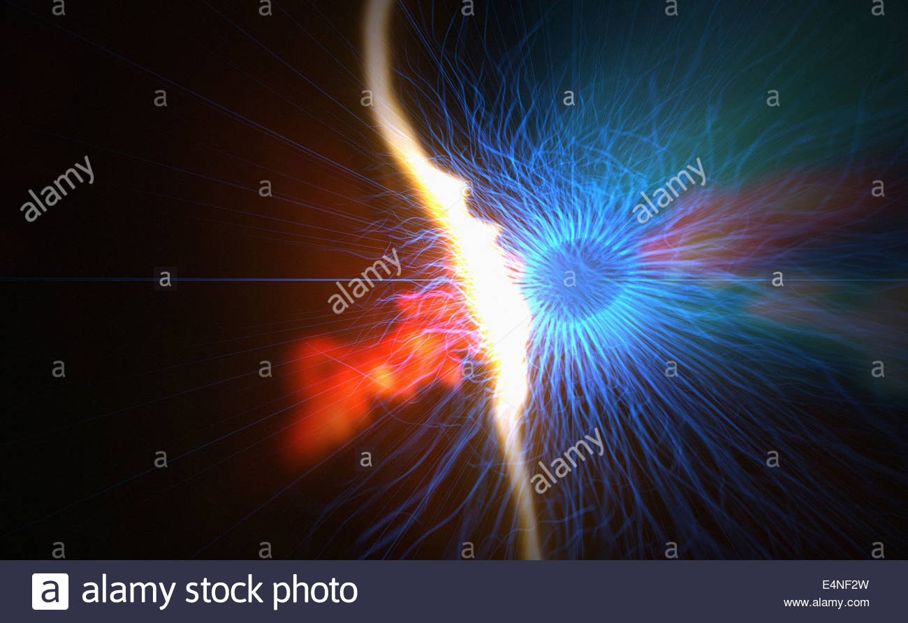 Abstract energy and heat - Stock Image