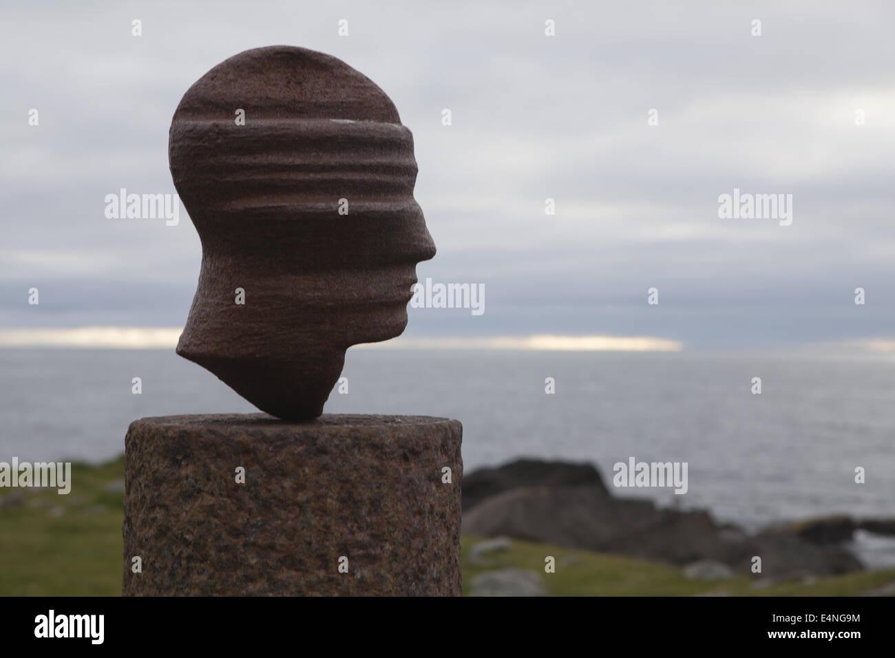 Sculpture Head, Vestvågøy; Norway - Stock Image