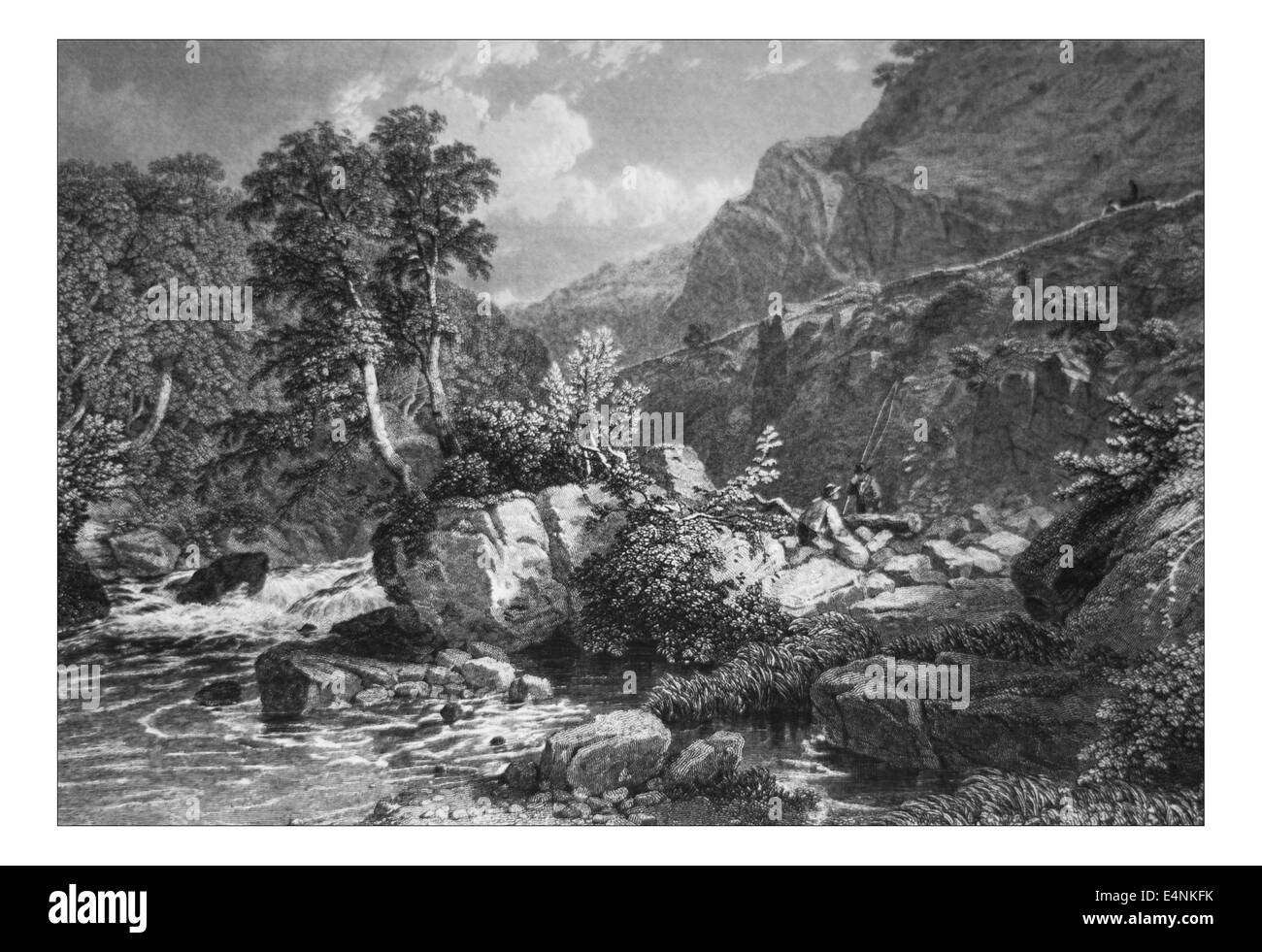 On the Lynne, _Illustration from 'The British isles - Cassell Petter & Galpin Part 19 Picturesque Europe. - Stock Image