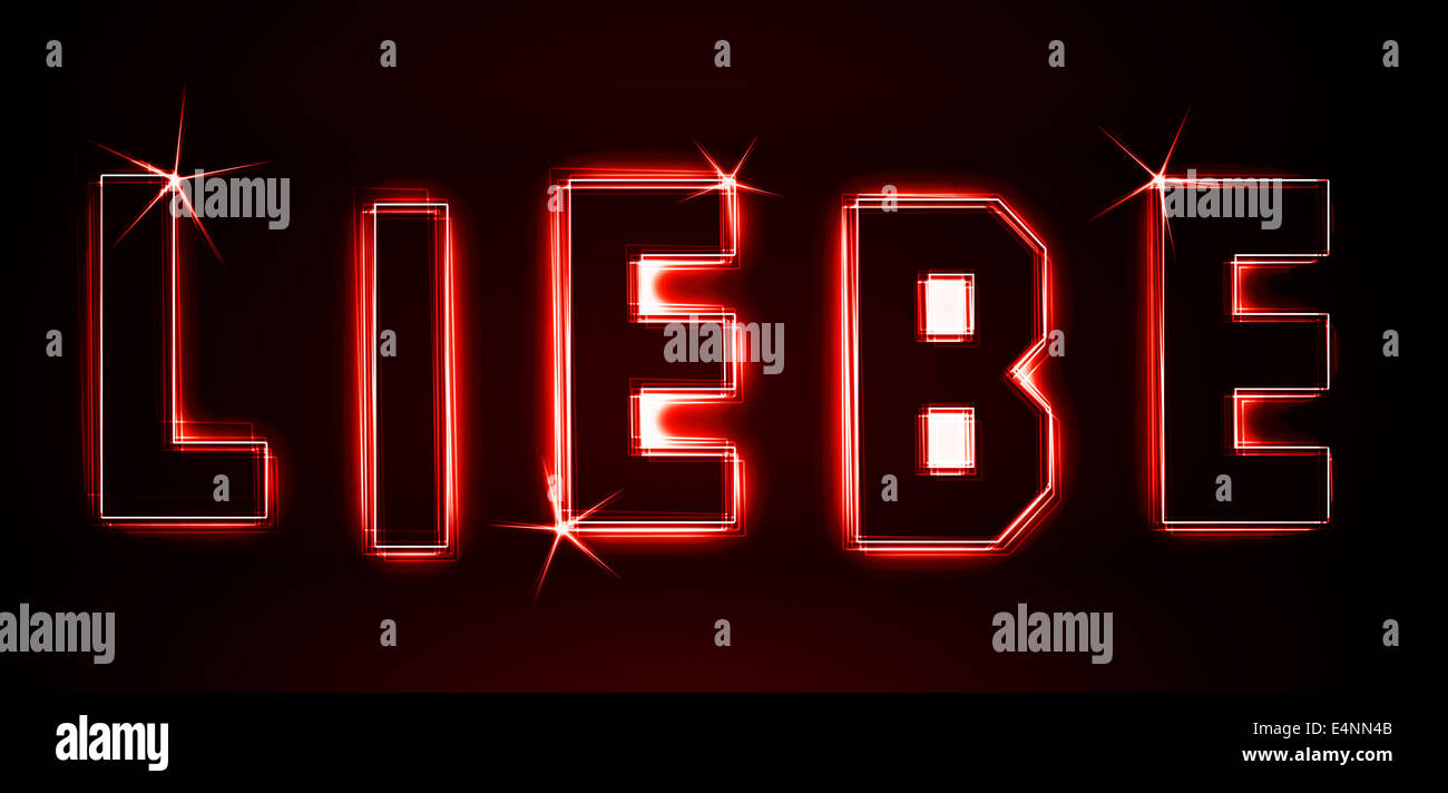 Liebe - Stock Image