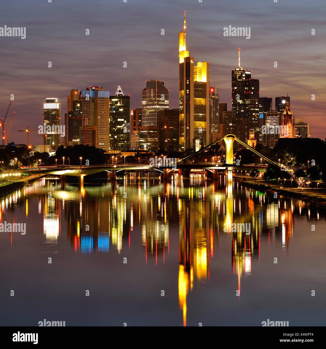 Skyline von Frankfurt am Main Stock Photo