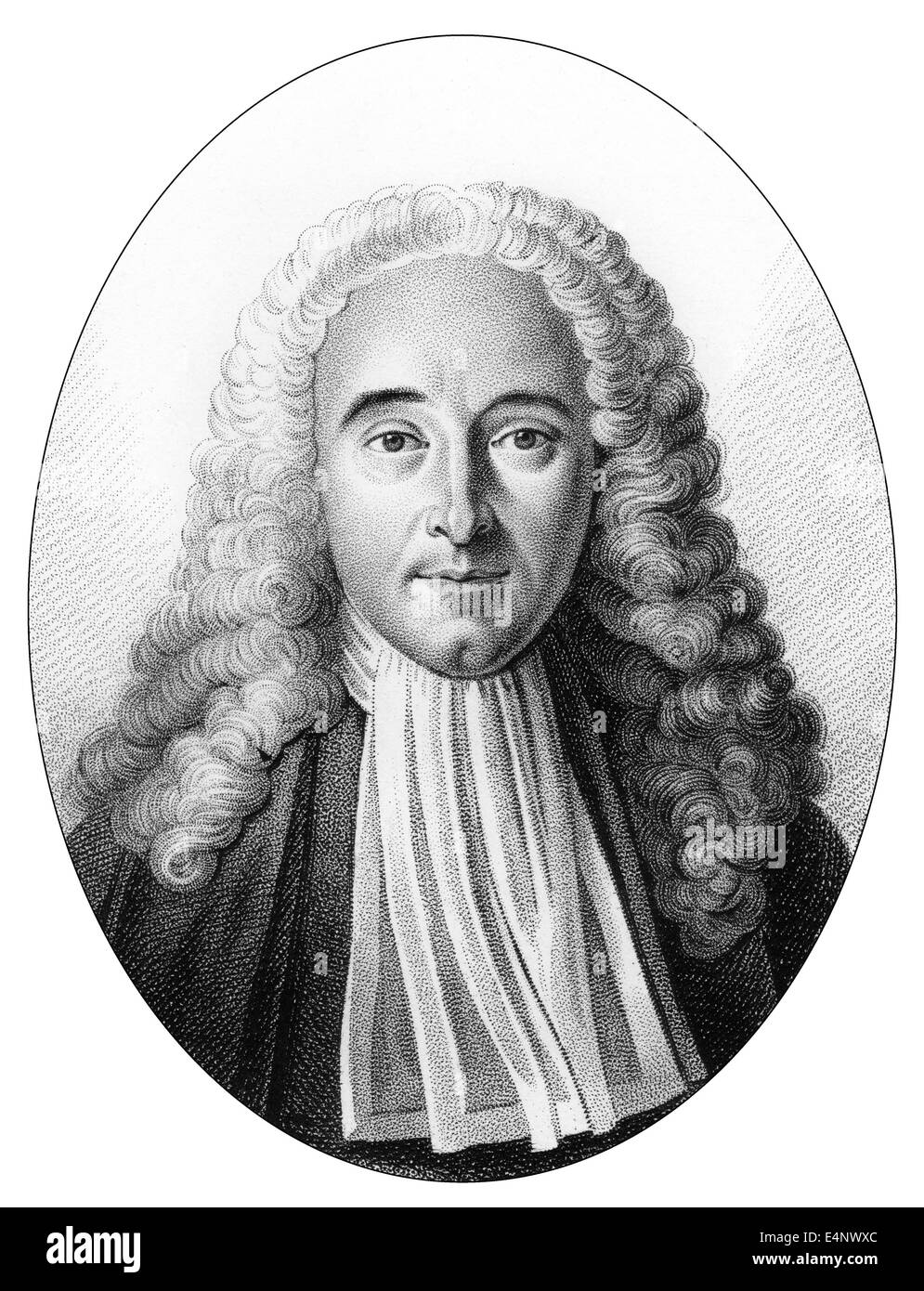Jean Baptiste Silva, 1682 - 1742, Doctor Regent of the Faculty of Medicine at the University of Paris, Royal Medical - Stock Image