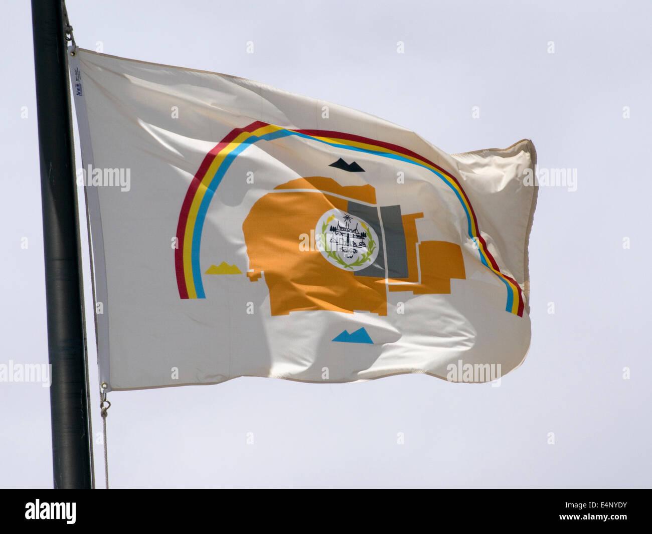 Navajo Nation Flag USA - Stock Image