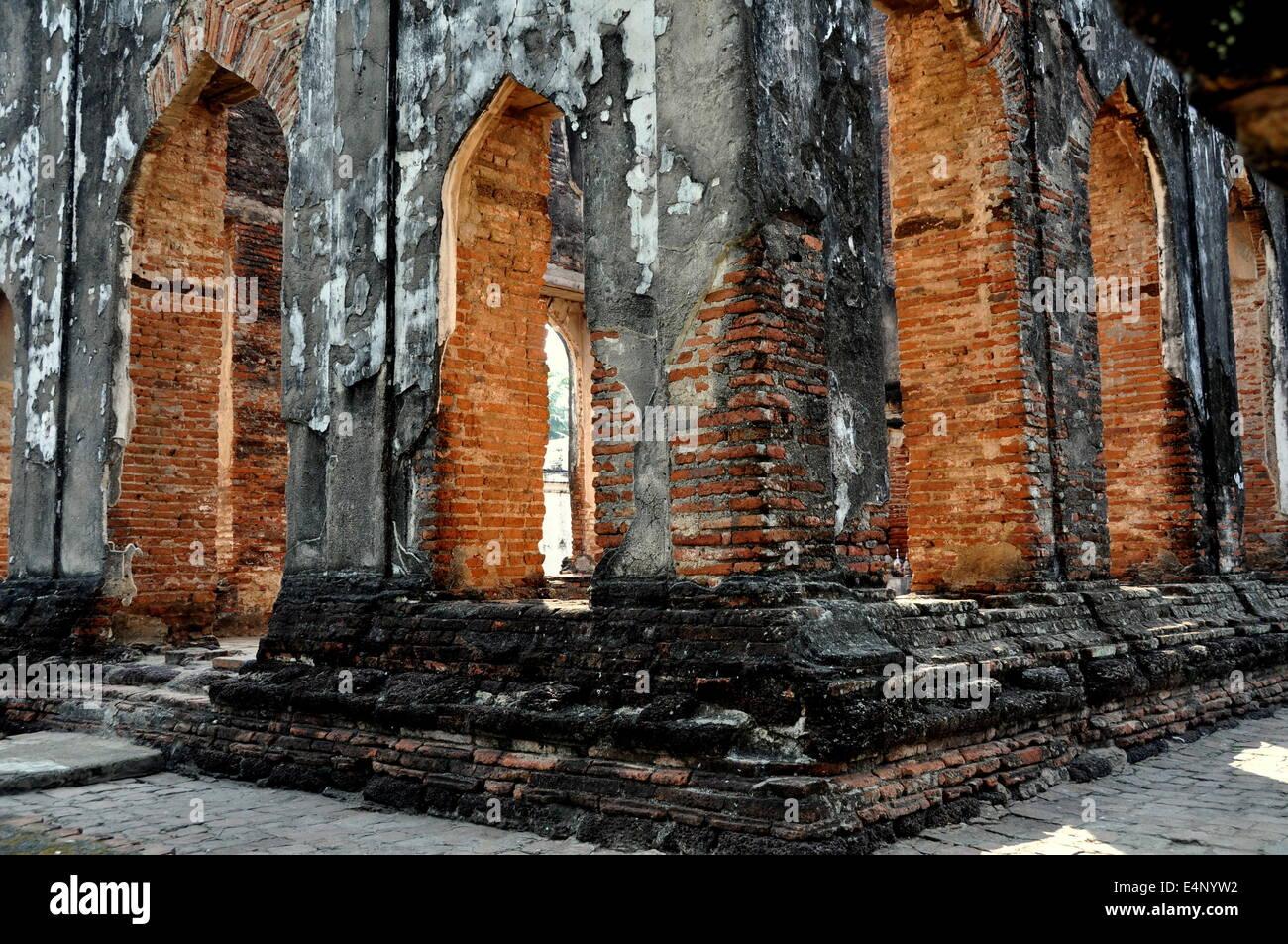Lopburi Thailand King Narais Great Throne Room Ruins At His Stock