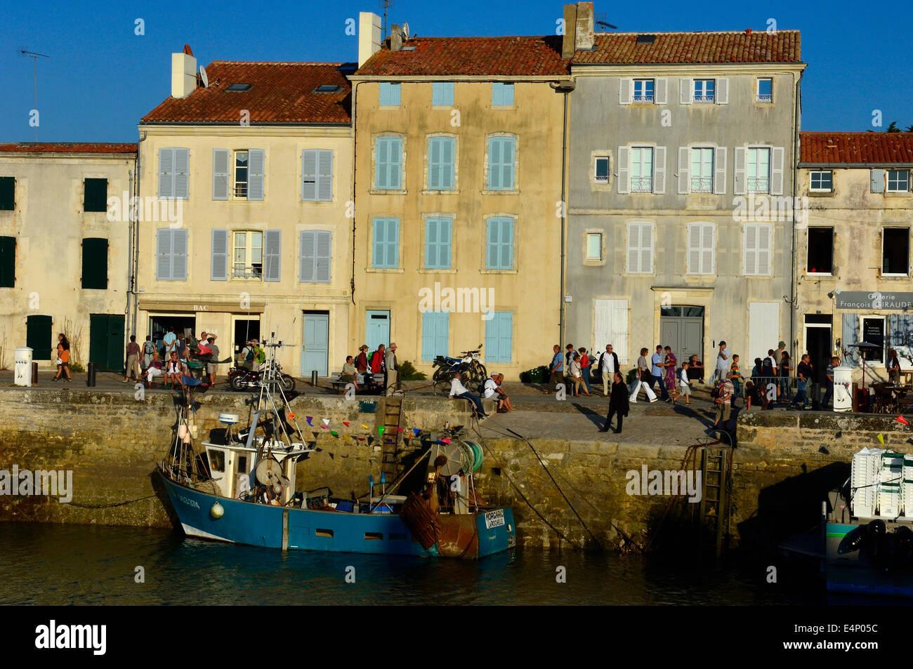 Saint Martin de Re on Ile de Re. Poitou-Charentes region of France. - Stock Image