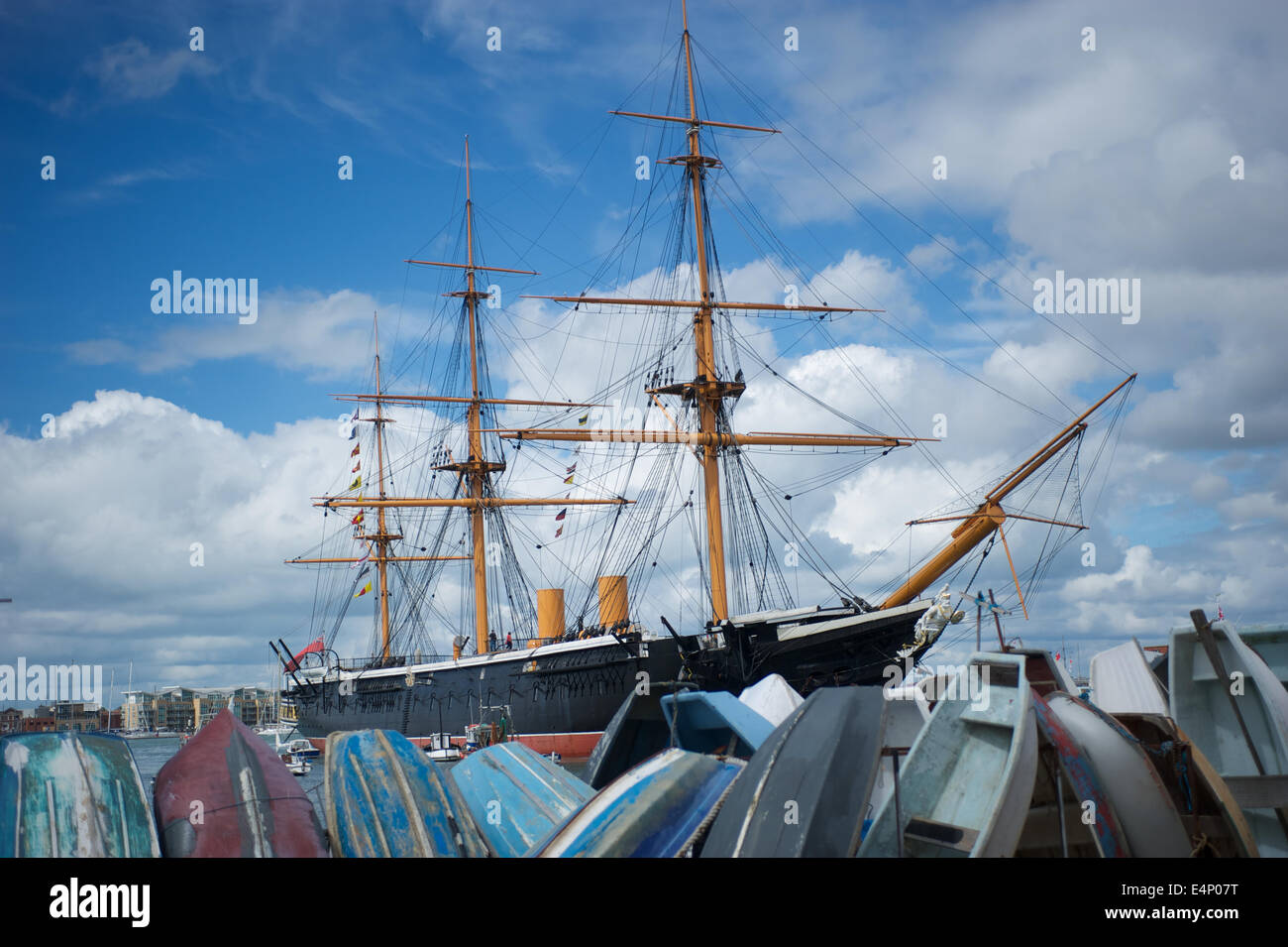 HMS Warrior, Portsmouth docks. Stock Photo
