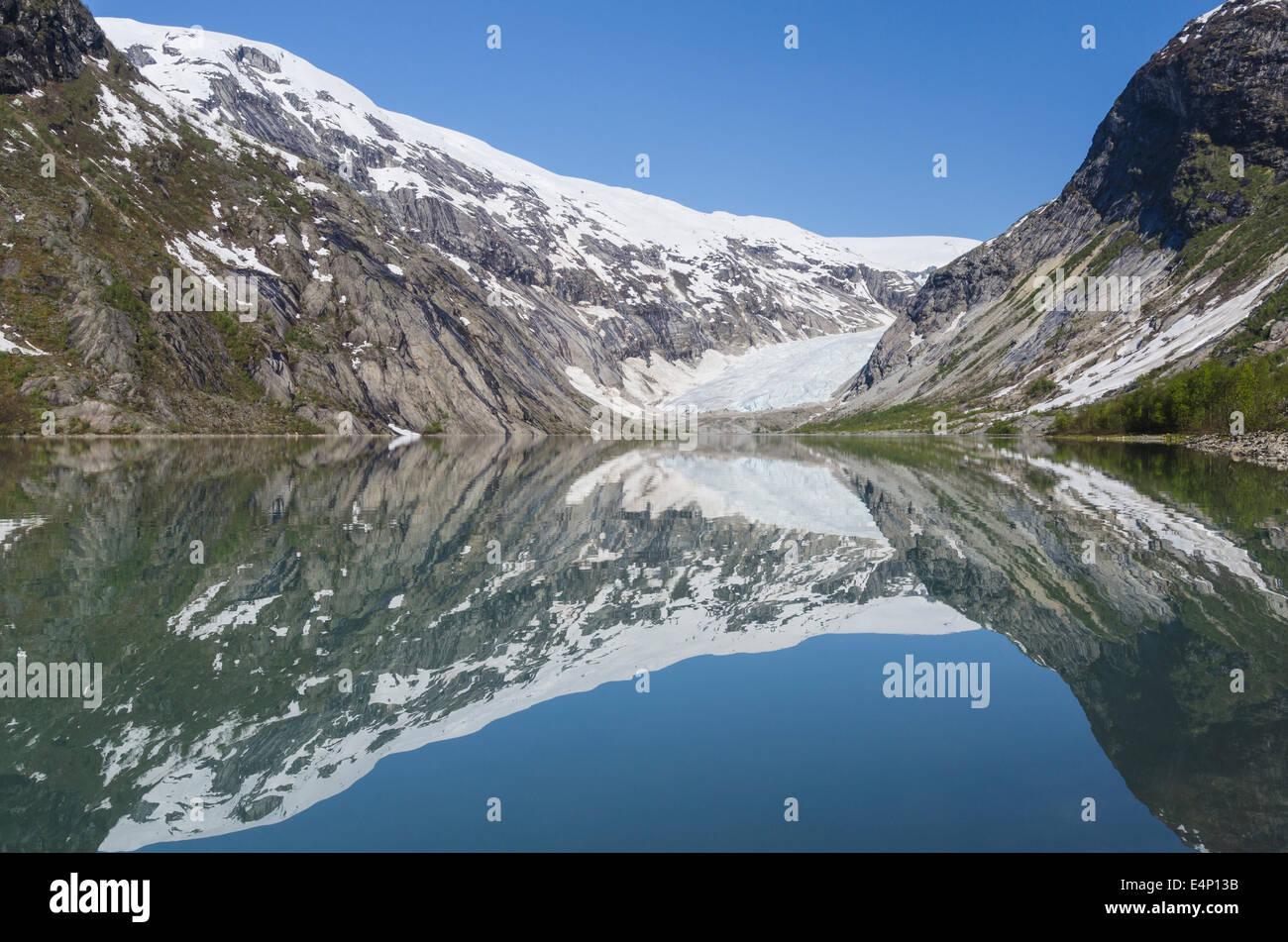 der Gletscher Nigaardsbreen, Jostedalsbreen Nationalpark, Breheimen, Luster, Sogn og Fjordane Fylke, - Stock Image
