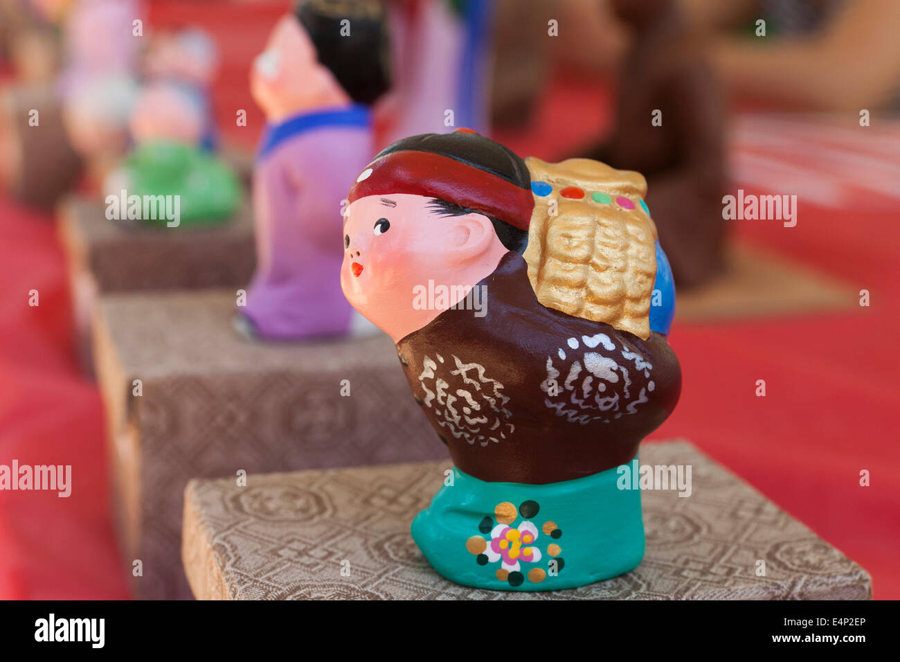 Chinese clay figure of man Stock Photo