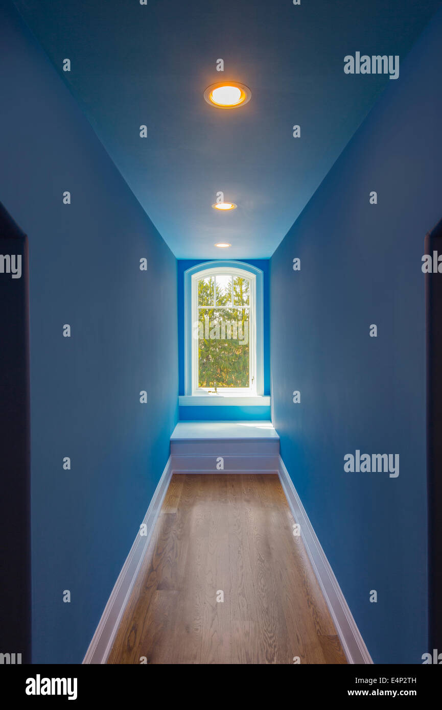 Perspective Hallway With Window - Stock Image