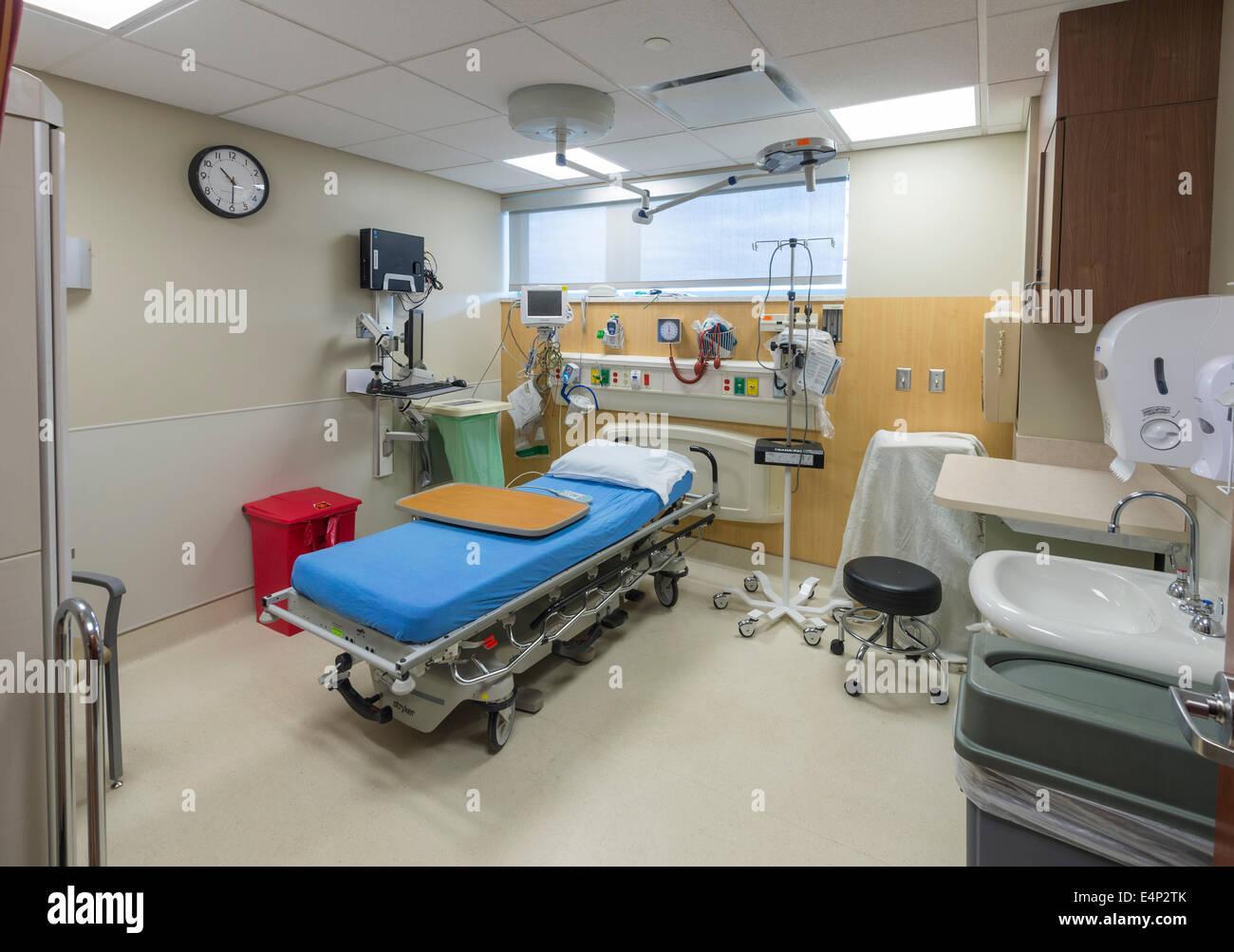 Empty Hospital Emergency Room - Stock Image