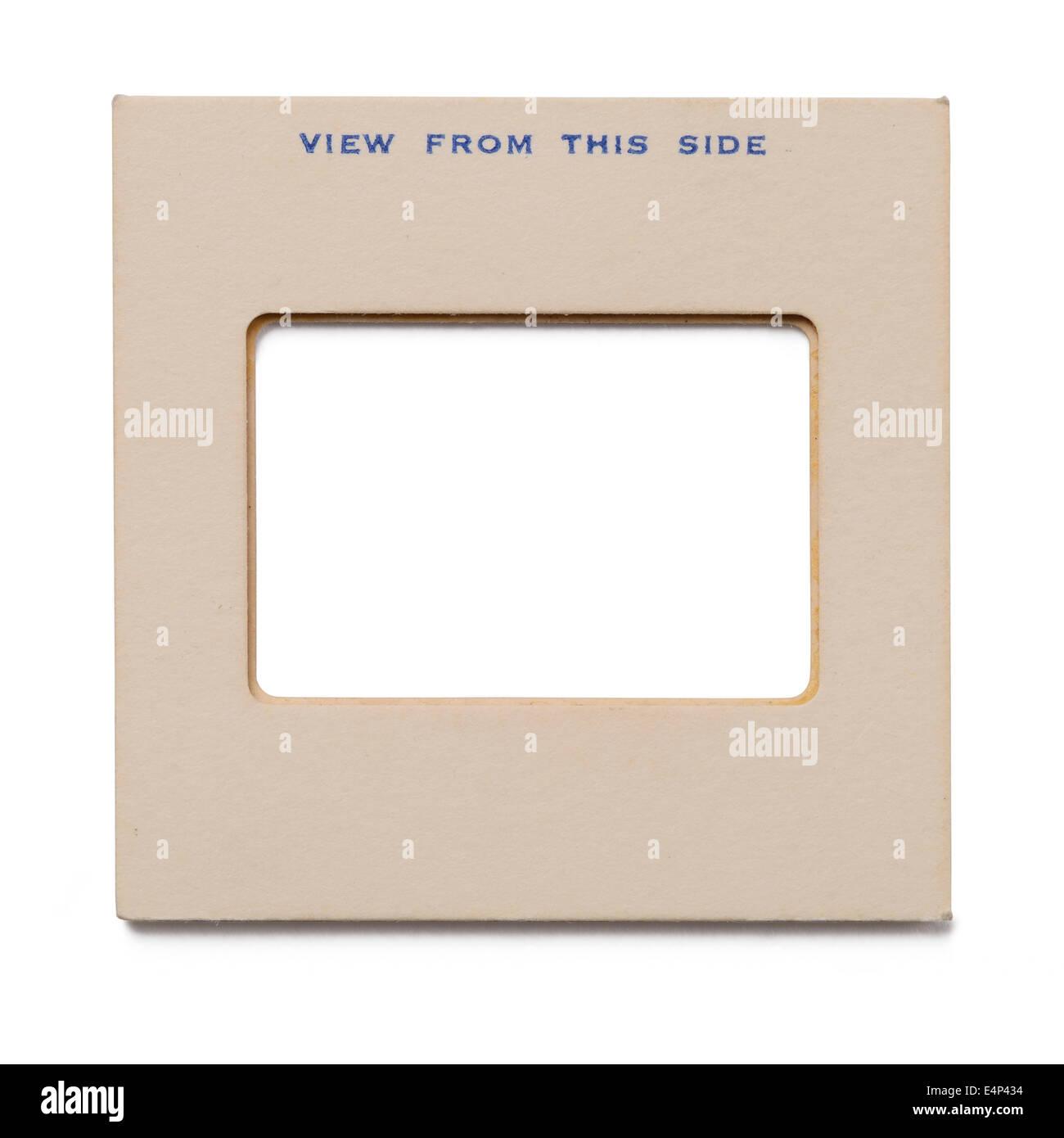 Old card 35mm slide mount - Stock Image