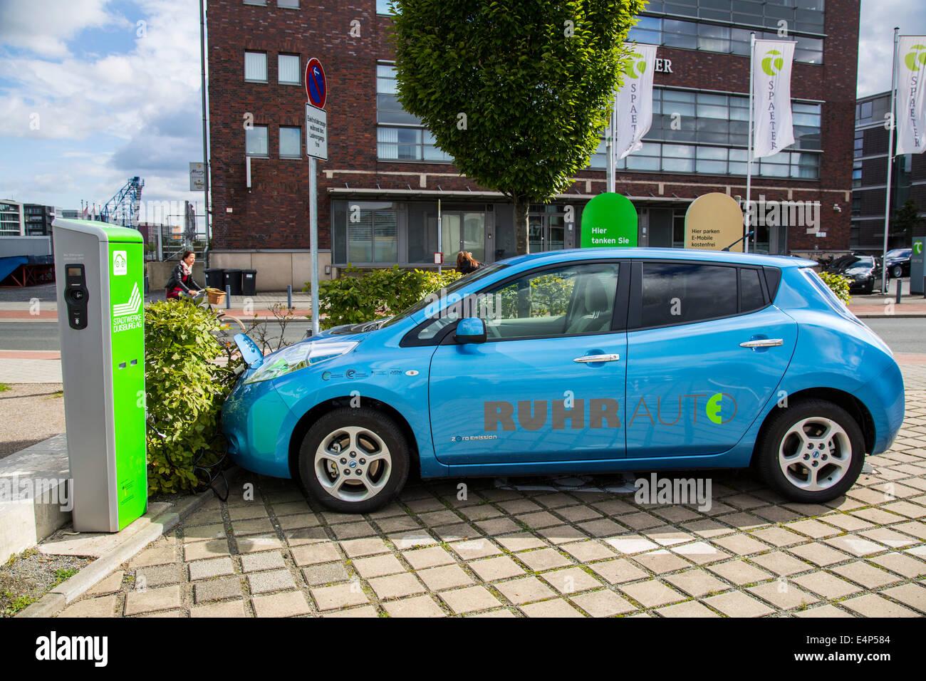 electric vehicle charging station blue stock photos. Black Bedroom Furniture Sets. Home Design Ideas