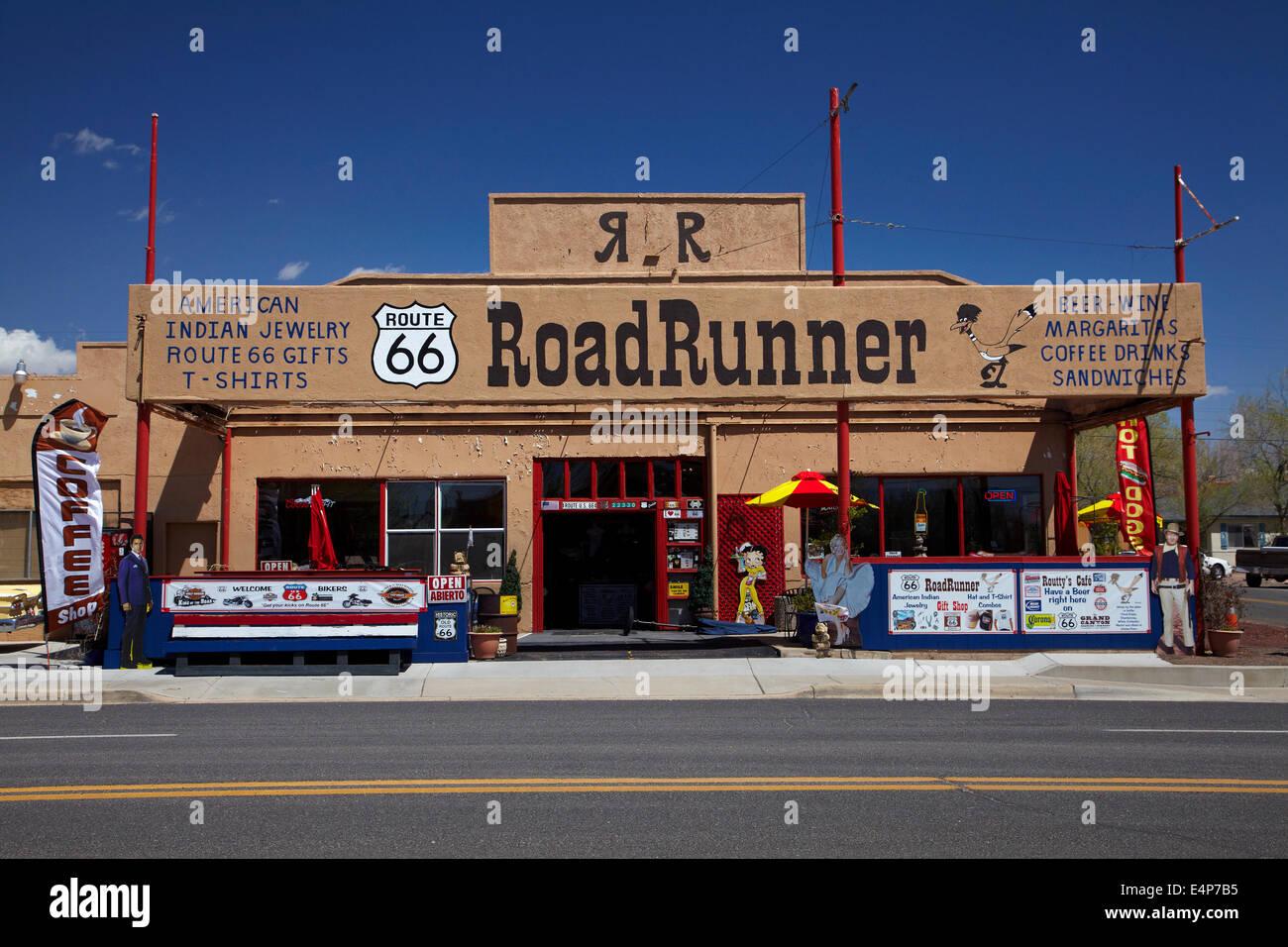 Roadrunner shop, Seligman, Historic U.S. Route 66, Arizona, USA - Stock Image