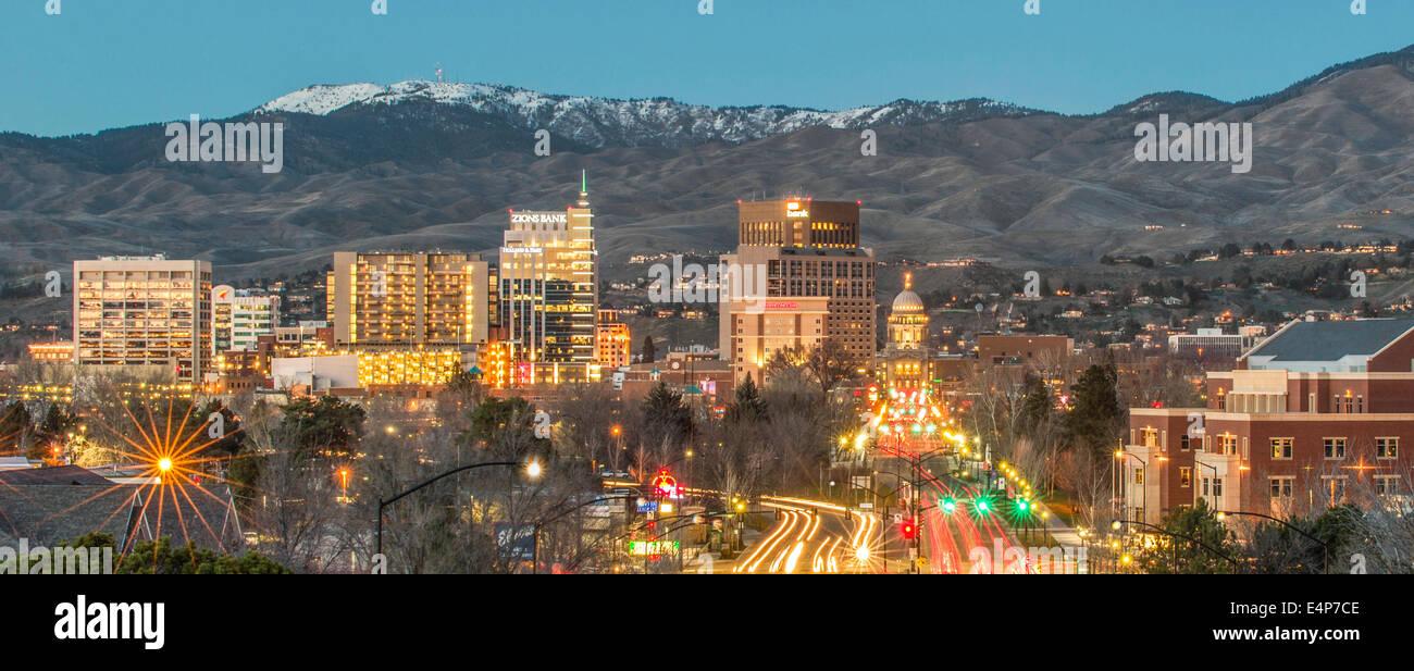 Downtown Boise, Idaho. Skyline. Stock Photo