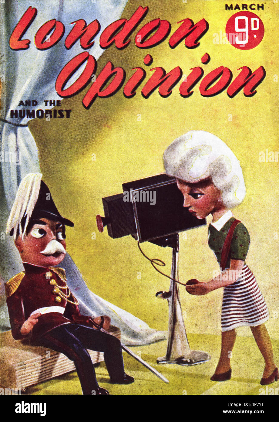 Cover of LONDON OPINION AND THE HUMORIST 1940s British magazine dated March 1942 - Stock Image