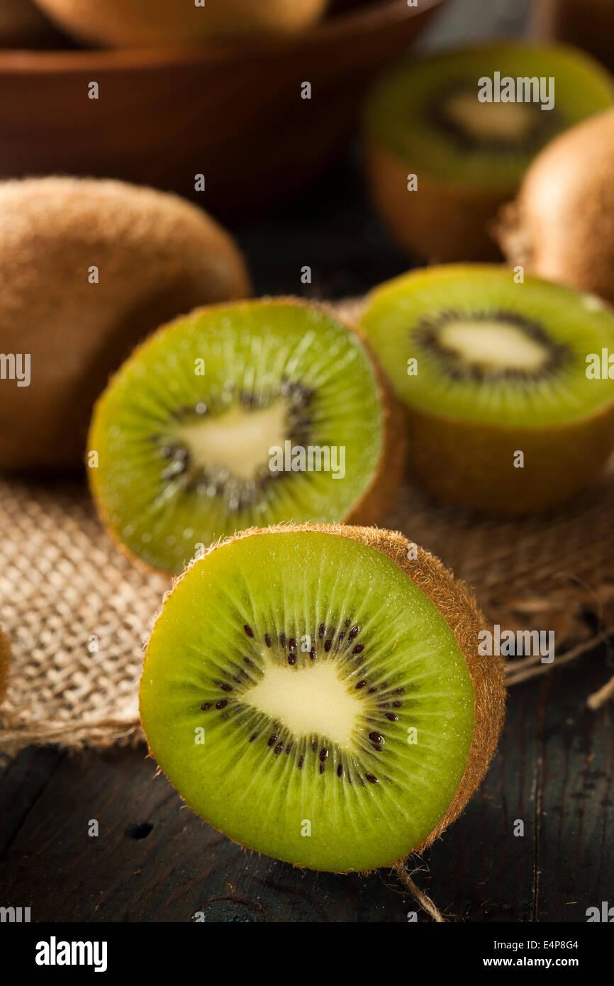 Fresh Organic Green Kiwi on a Background - Stock Image