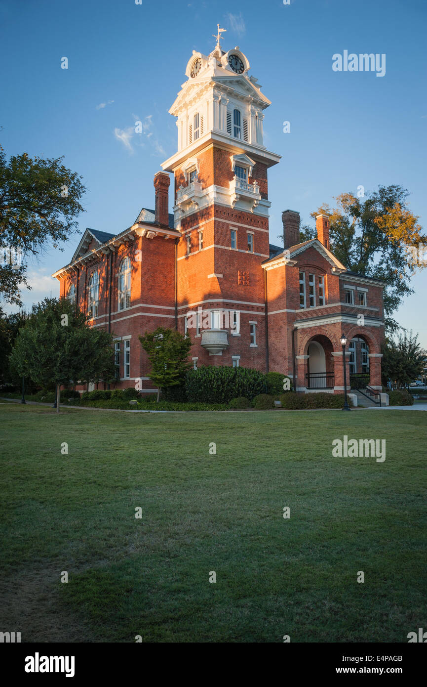 The 1885 Gwinnett Historic Courthouse on the square in downtown Lawrenceville, Georgia, just outside