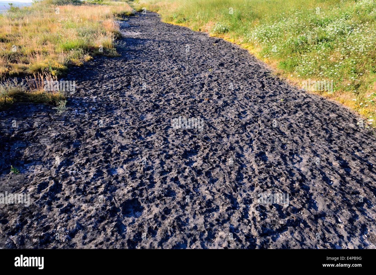 Wild west road landscape close up to unique rocks Stock Photo