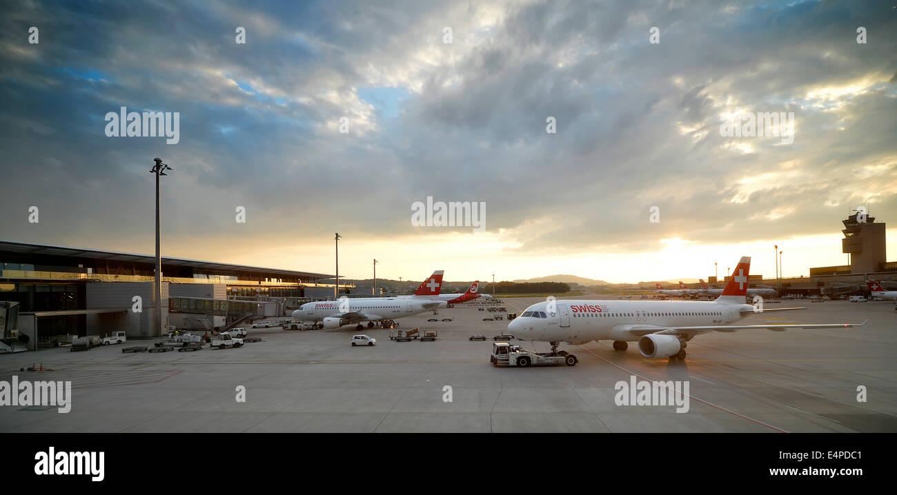 Swiss Terminal, Zurich Airport, Zurich, Switzerland - Stock Image