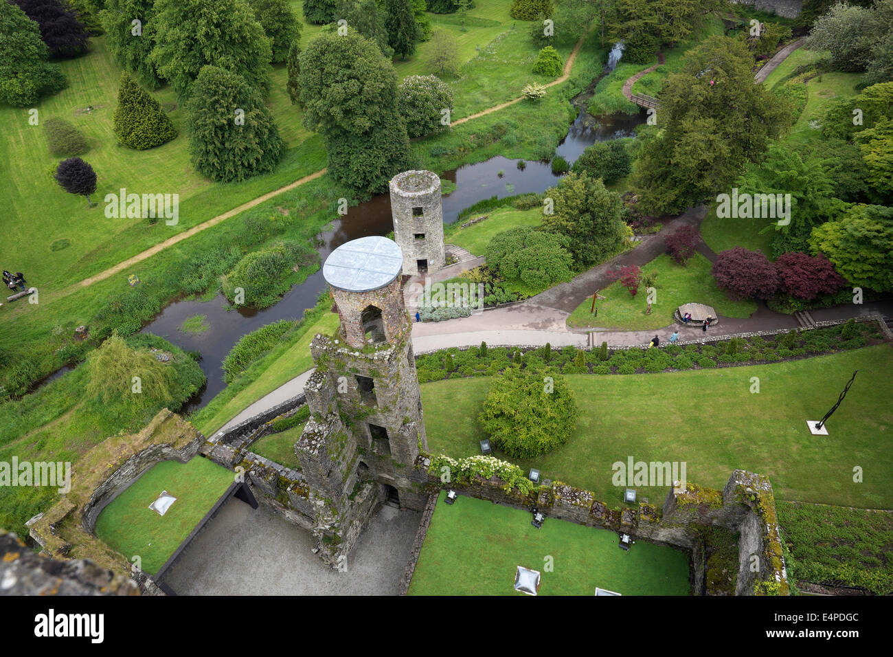 Keep and park of Blarney Castle, County Cork, Ireland - Stock Image