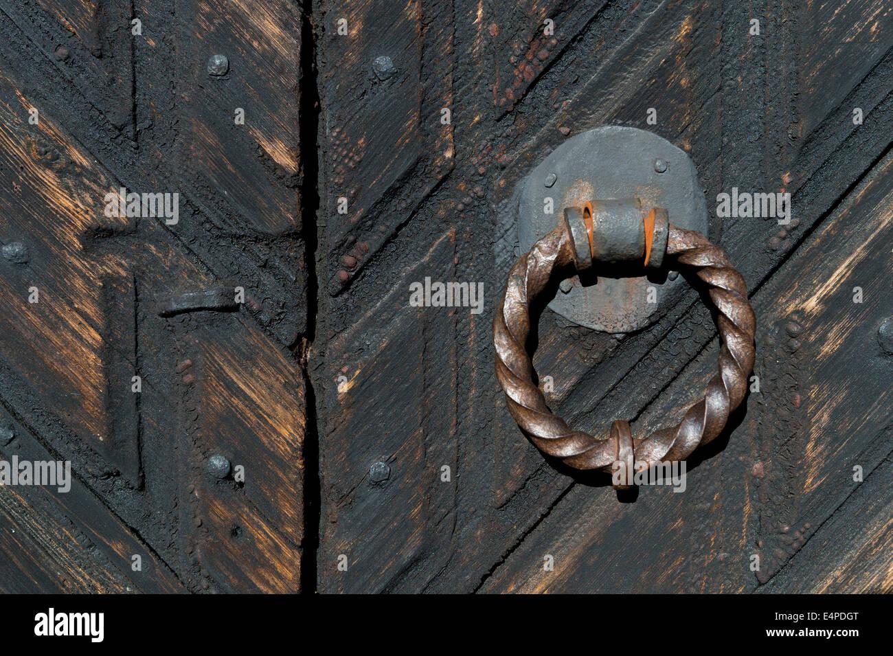 Hand Forged Door Handle, Old Wooden Church, Djursdala, Småland, Sweden