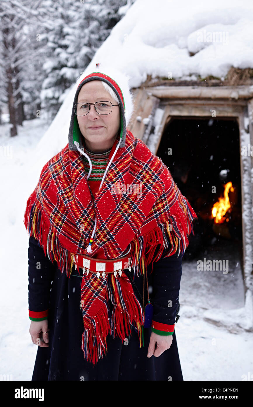 UMEA, Northern Sweden. Sami are Sweden's only indigenous people. - Stock Image