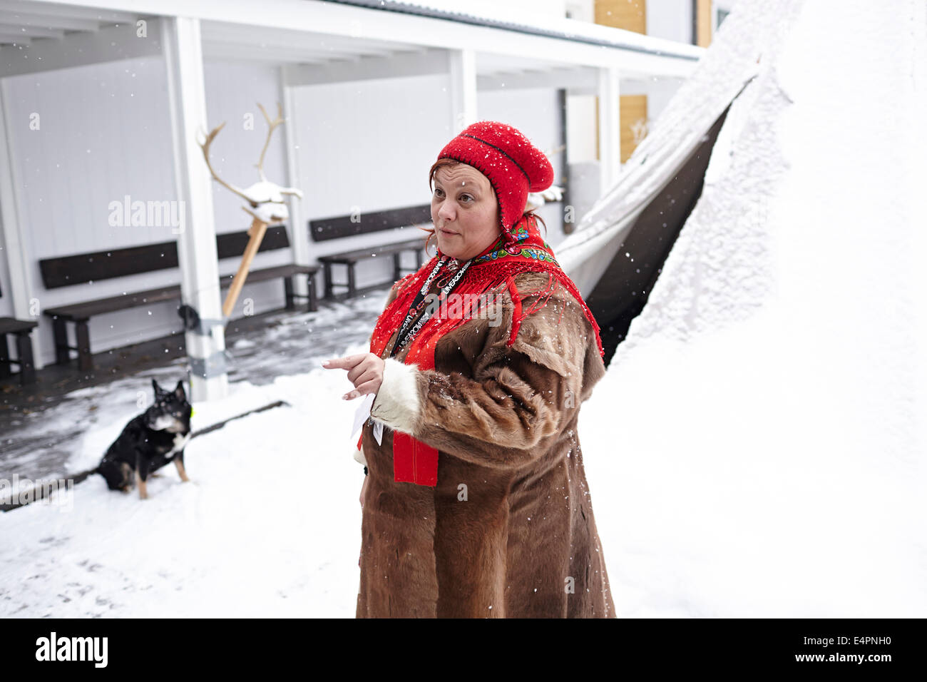 UMEA, northern Sweden. Sami are Sweden's, and in principle Europe's, only indigenous people. - Stock Image