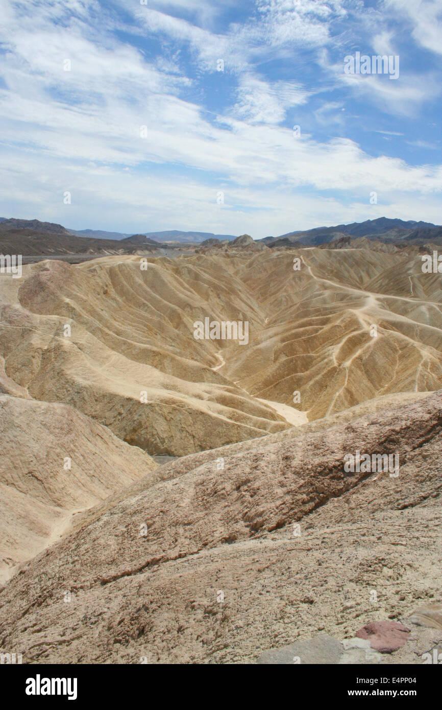 Zabriskie Point Death Valley - Stock Image