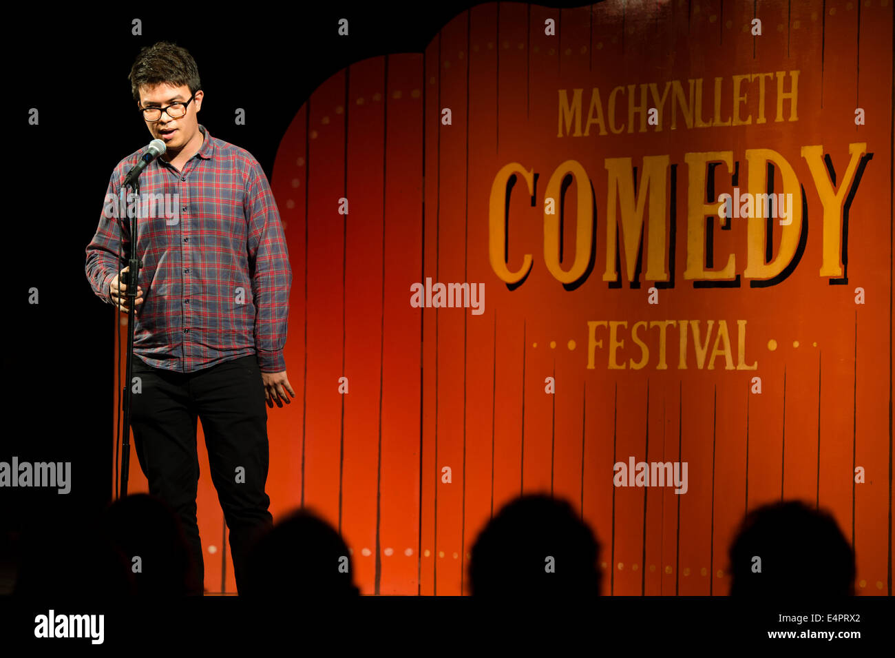 PHIL WANG performing at the fifth annual Machynlleth Comedy Festival. - Stock Image