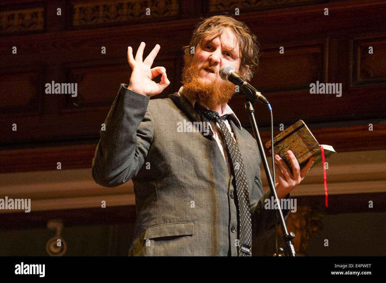 Comedian TIM KEY performing his show 'Freeze' at The Machynlleth Comedy Festival 2014 - Stock Image