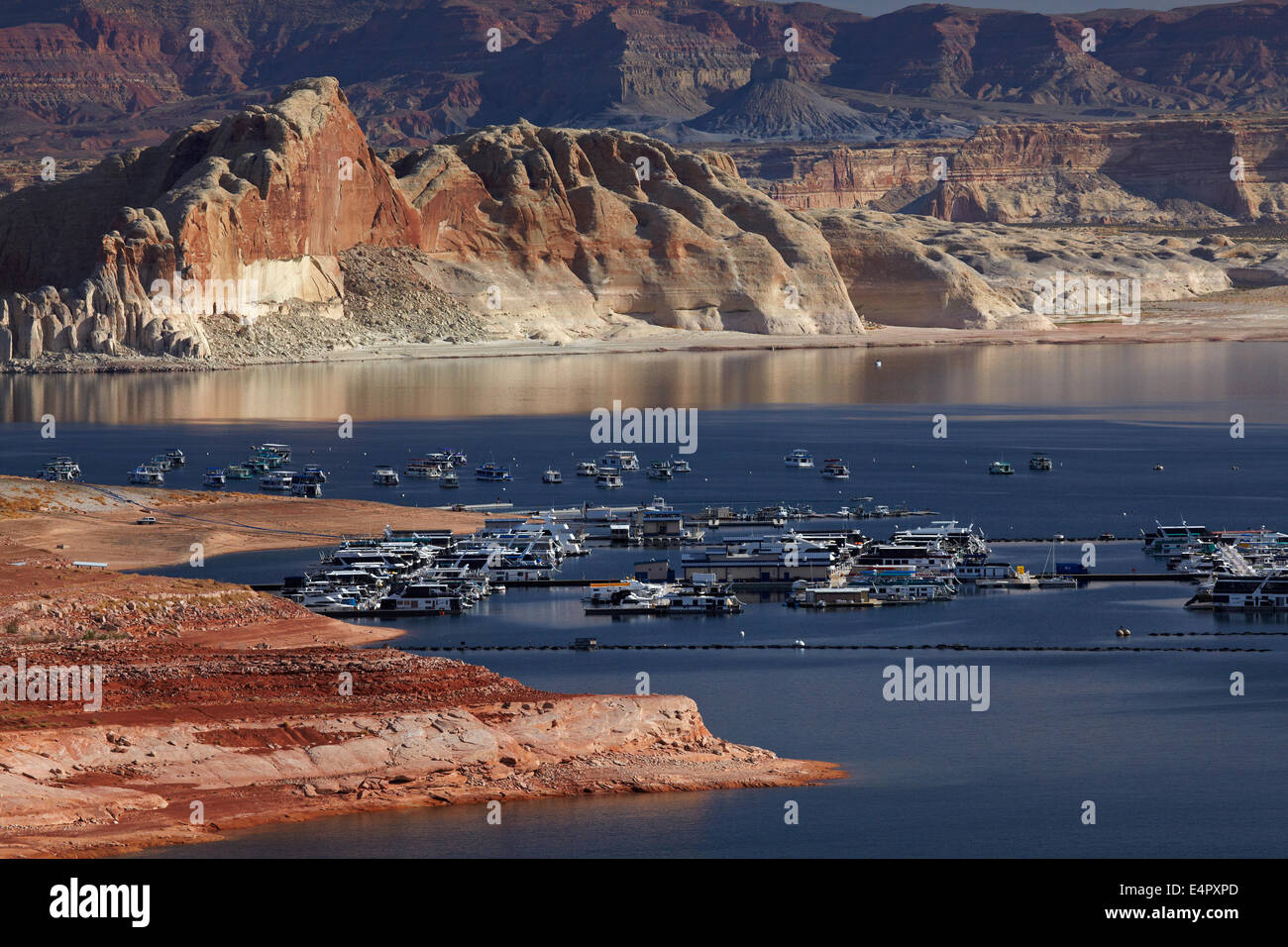 Lake Powell And Houseboats At Wahweap Marina Wahweap Near Page
