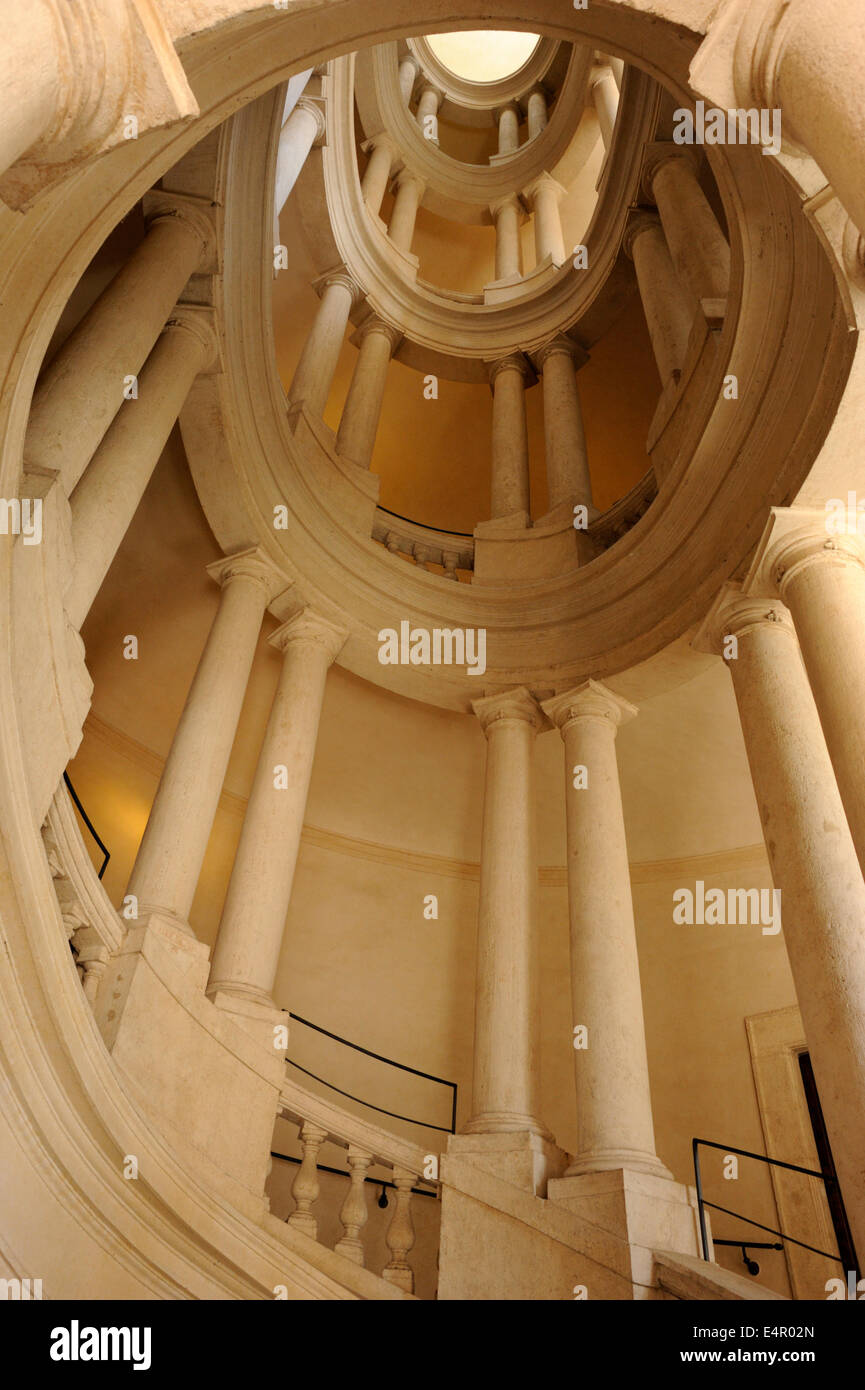 italy, rome, palazzo barberini, Borromini staircase - Stock Image