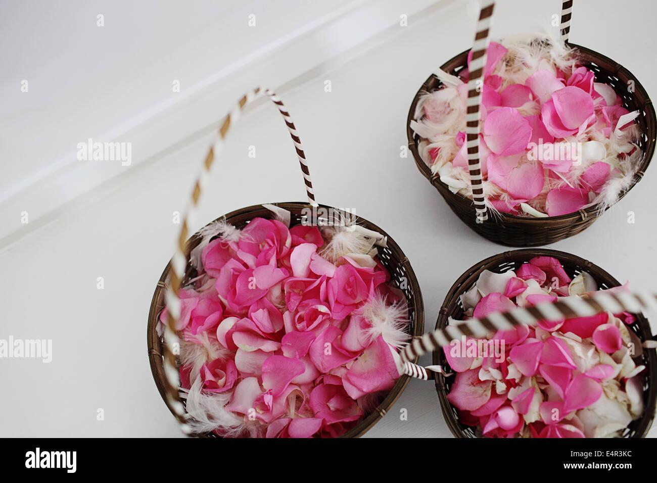 Baskets Of Rose Petals Stock Photos & Baskets Of Rose Petals Stock ...