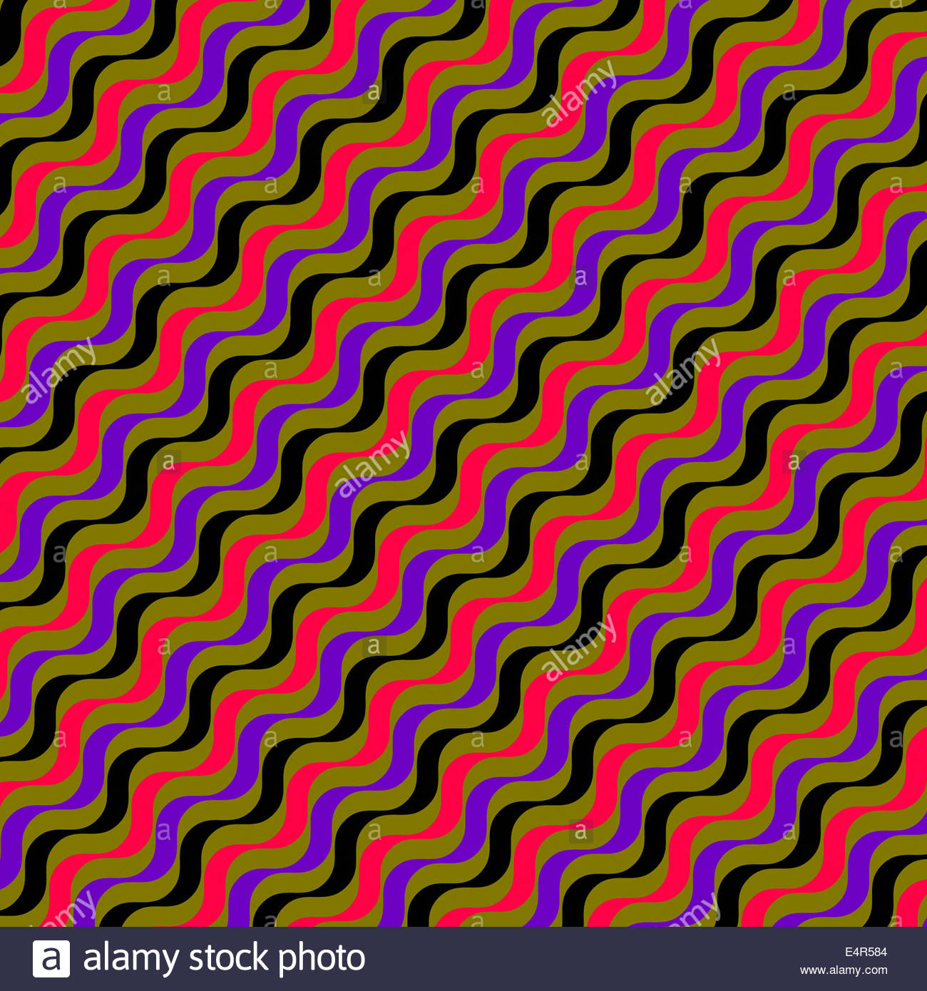 Abstract backgrounds pattern of repeating wavy lines - Stock Image