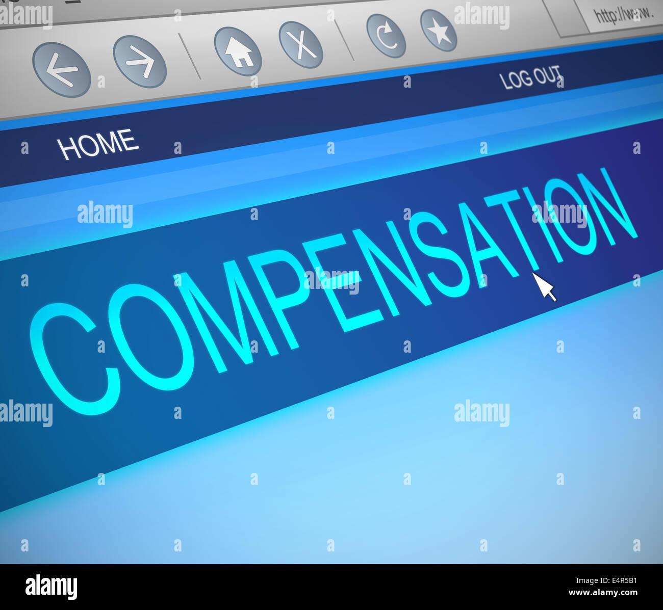 Compensation concept. - Stock Image