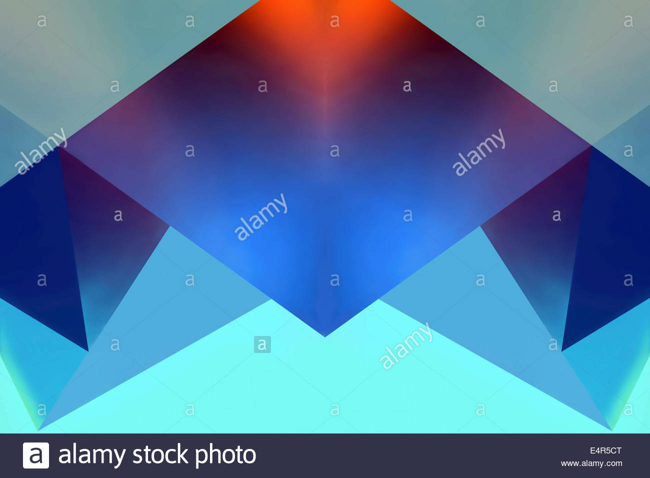 Abstract backgrounds pattern of symmetrical geometric shapes - Stock Image