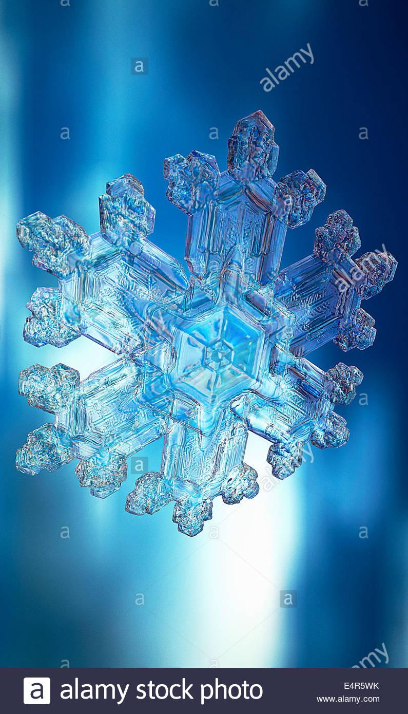 Close up of snowflake - Stock Image
