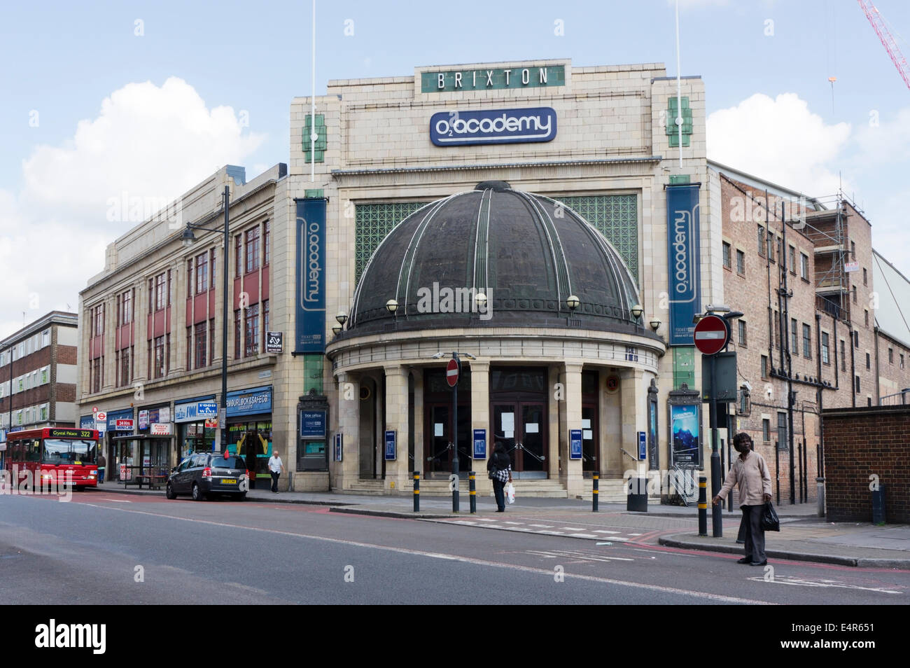 The Brixton O2 Academy music venue in Stockwell Road, south London. - Stock Image