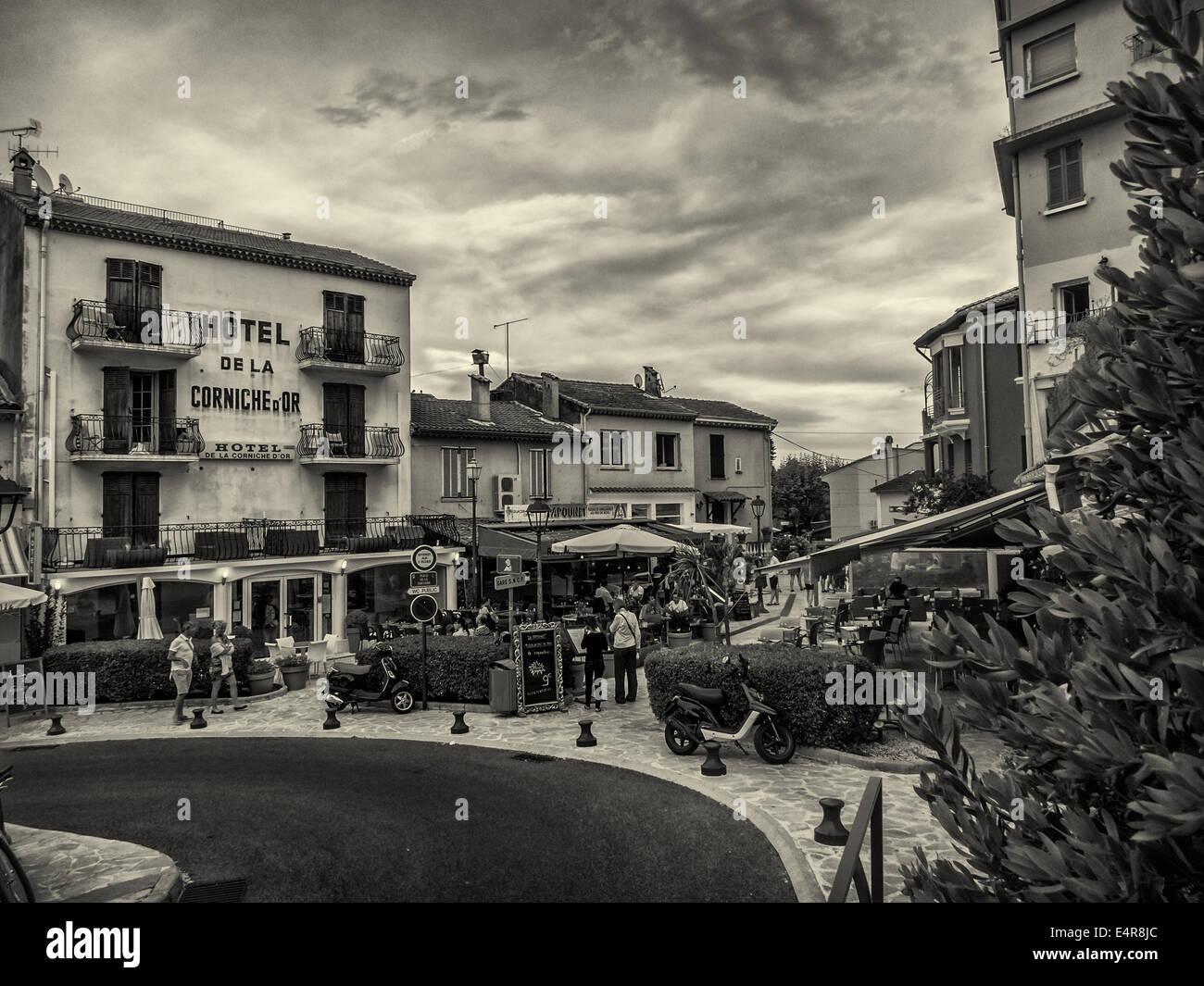 Central square in Mandelieu La Napoule Stock Photo