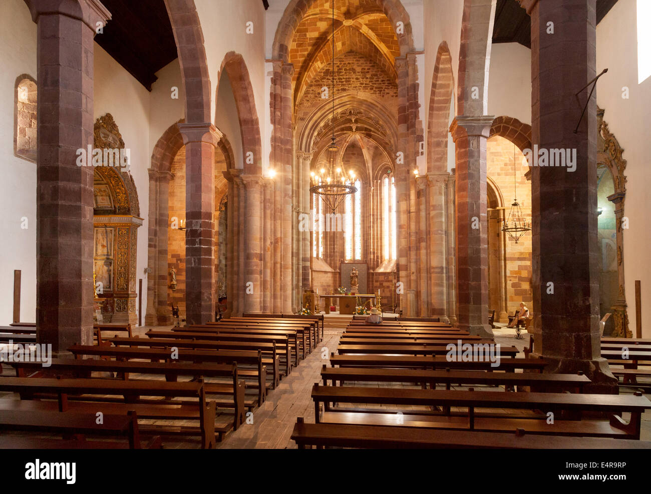 Se Catedral, Silves ( Silves Cathedral ) interior, Algarve, Portugal - Stock Image